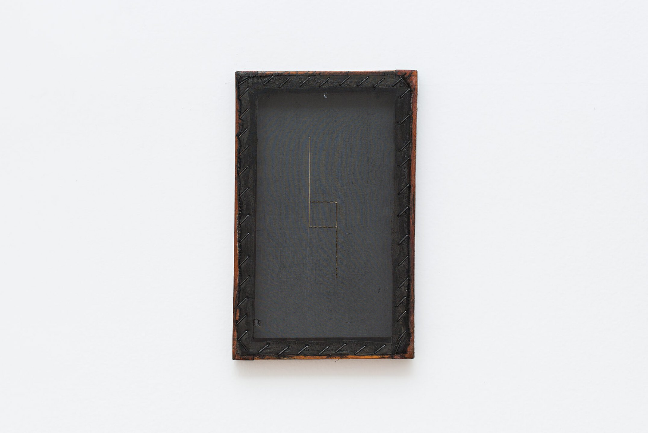 Paloma Bosquê,<em> Dreams</em>, 2014, nankin and lurex threads on canvas, 26,5 × 16,5 cm - Mendes Wood DM