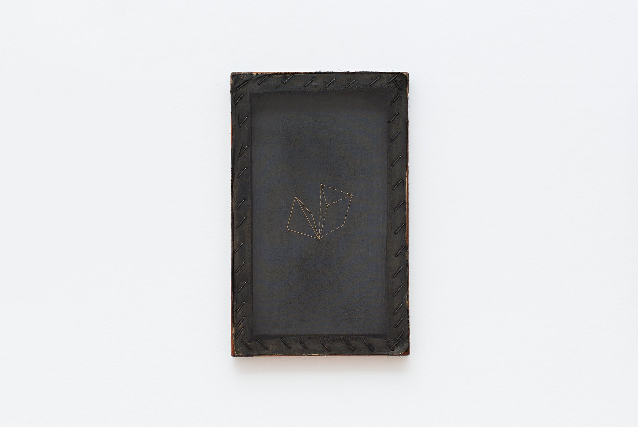 Paloma Bosquê, <em>Dreams</em>, 2014, nankin and lurex threads on canvas, 26,5 × 16,5 cm - Mendes Wood DM