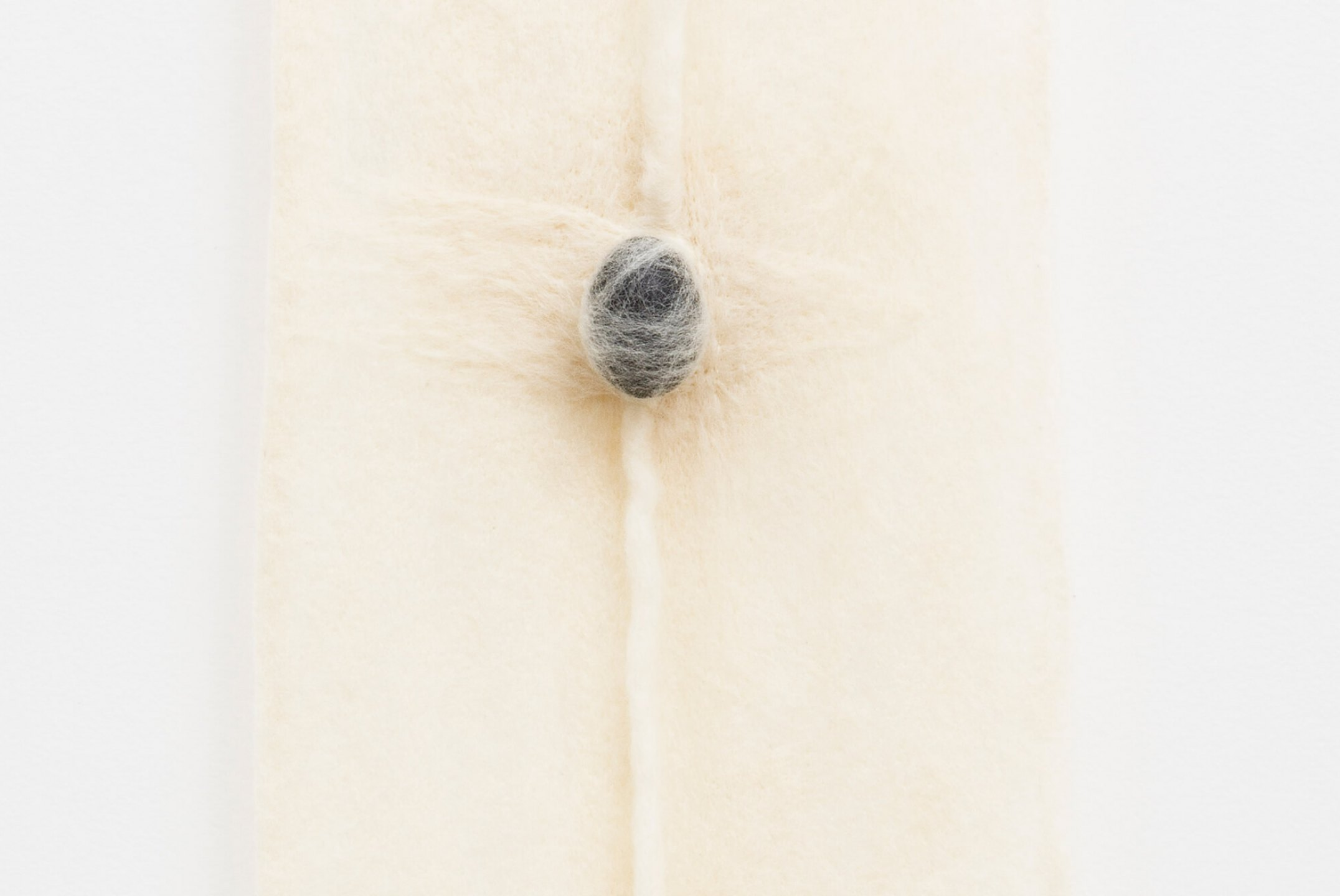 Paloma Bosquê, <em>Being #4</em>, 2015, wool felted by hand, dyed bee wax and brass holder, 95 × 27,5 cm - Mendes Wood DM