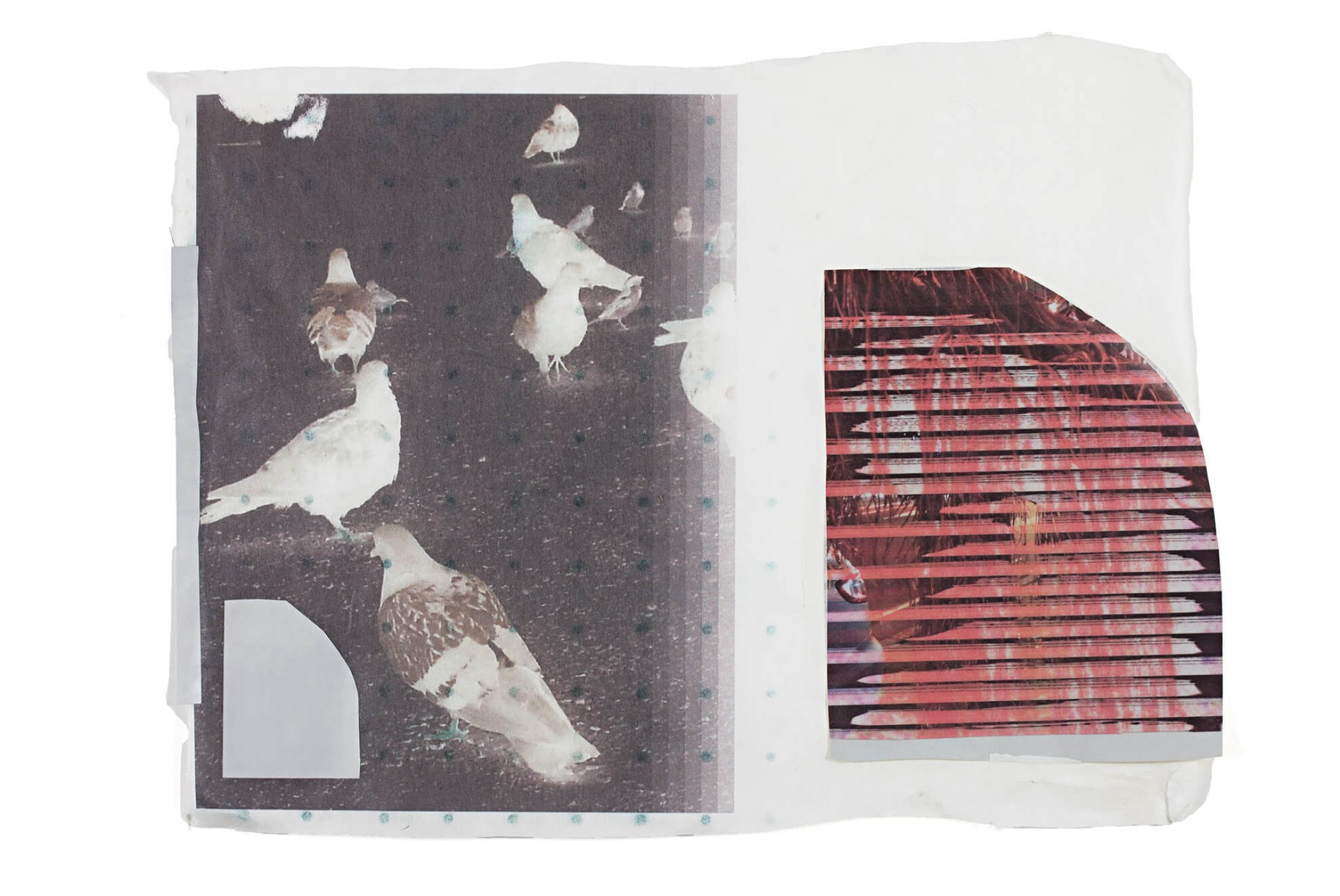Marina Perez Simão,<em>Untitled,</em> 2013, acrylic on plastic, plyester and printing on reflexive paper, 62 × 46 cm - Mendes Wood DM