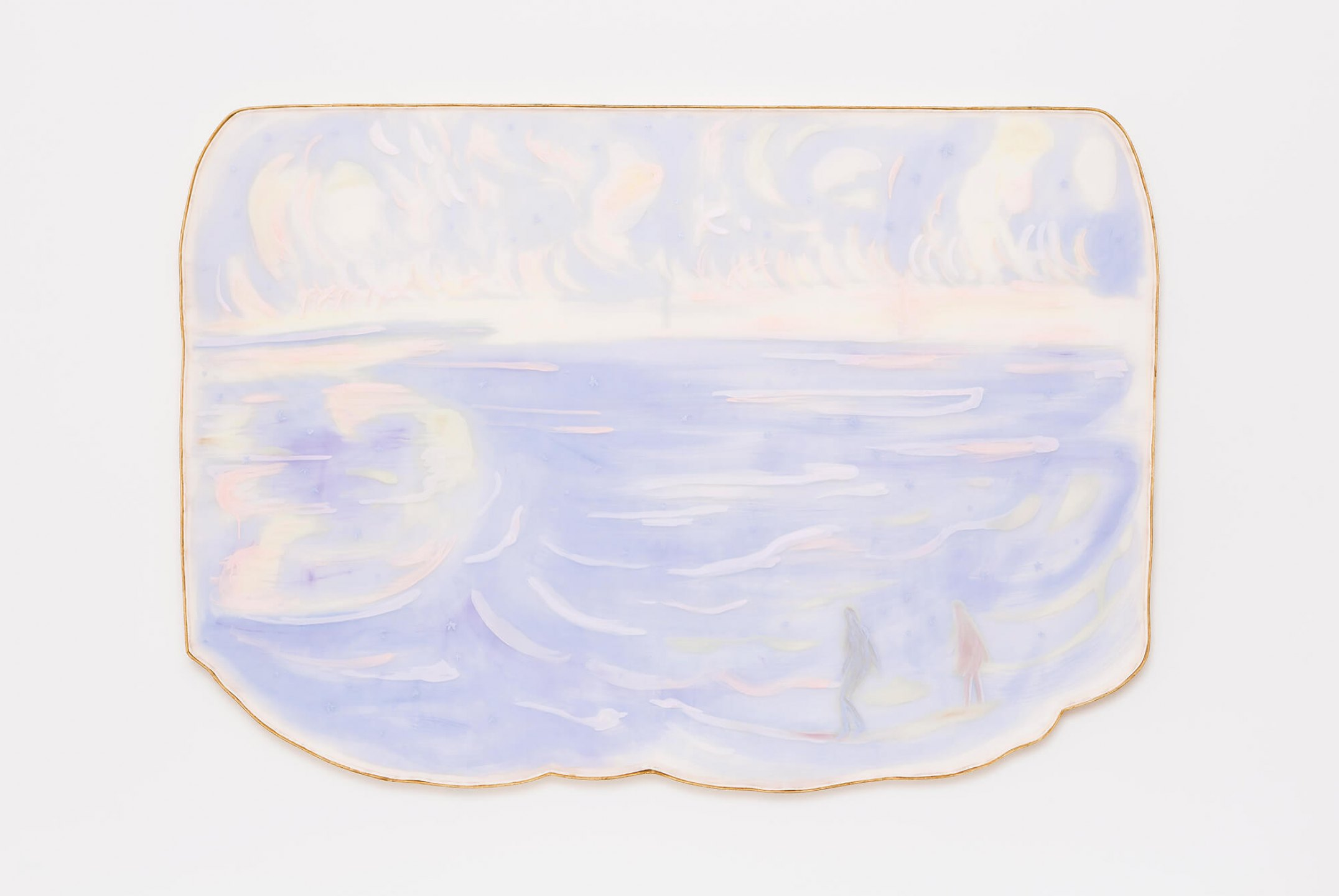 Marina Perez Simão, <em>Untitled</em>, 2015,&nbsp;acrylic and iridescent pigment on polyester paper assembled on wood,&nbsp;152,5&nbsp;×&nbsp;217 × 5 cm&nbsp; - Mendes Wood DM