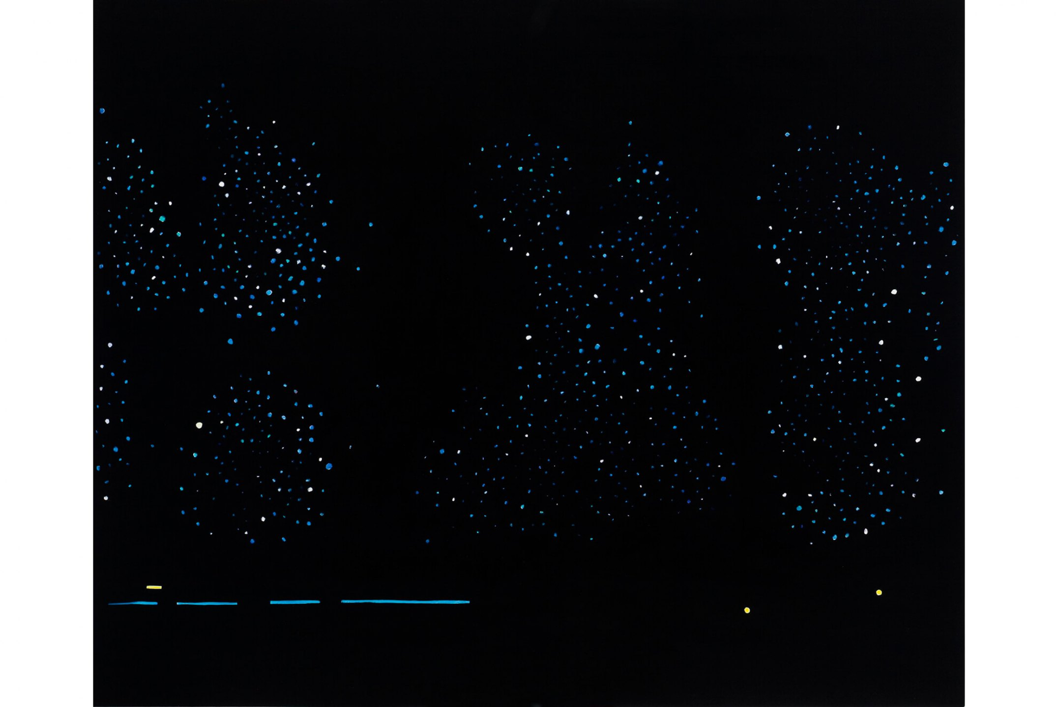 Patricia Leite, <em>Untitled (Night</em>), 2010, oil on wood, 90 × 110 cm - Mendes Wood DM