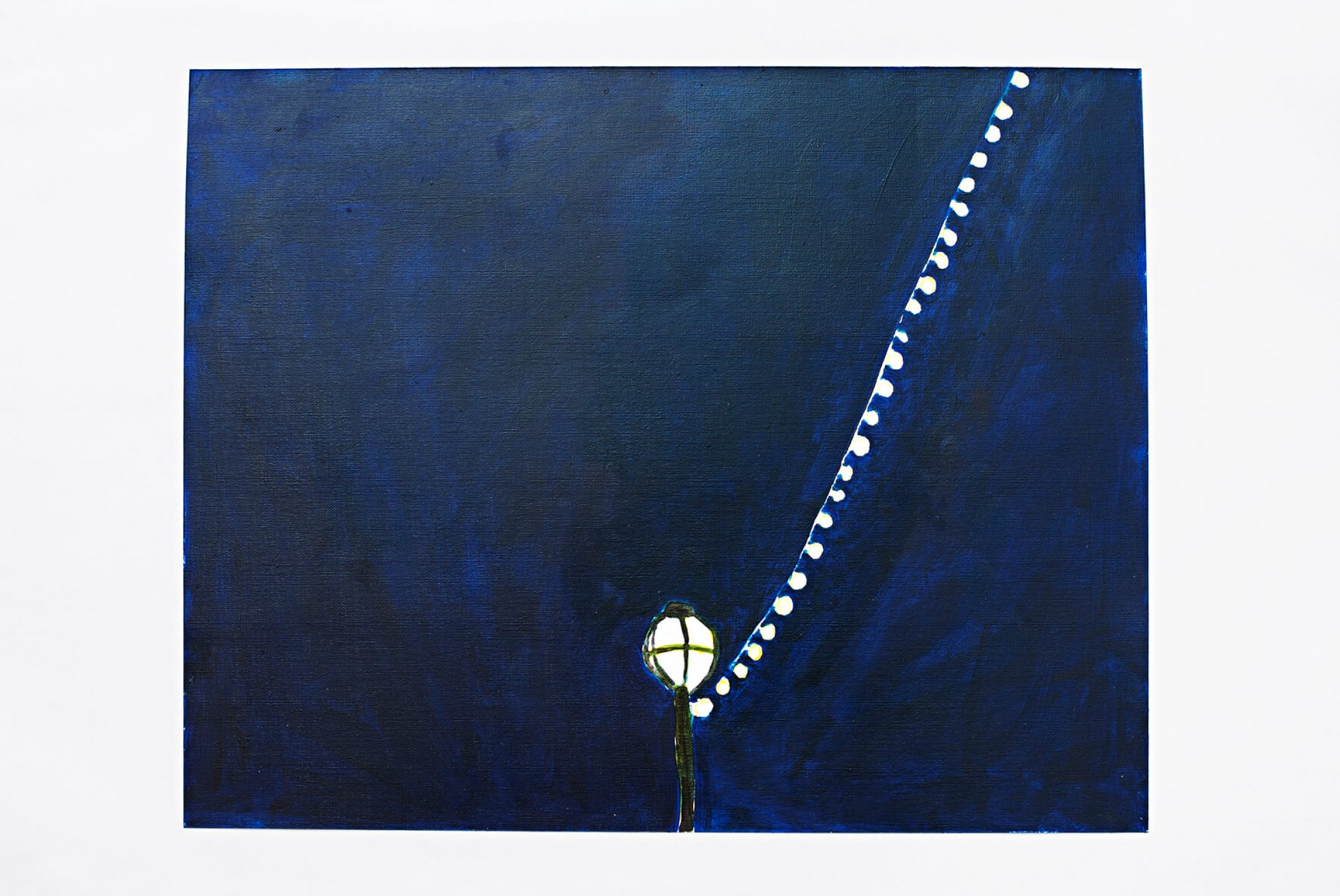 Patricia Leite, <em>Lamppost,</em> 2013, oil on paper, 33 × 41 cm - Mendes Wood DM