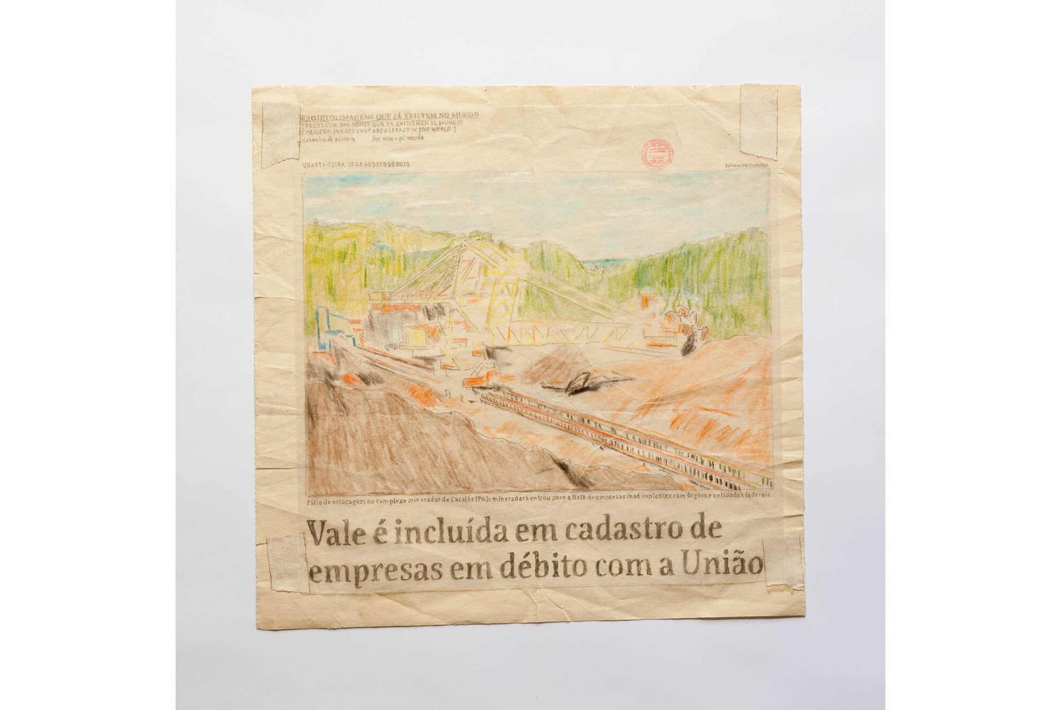Paulo Nazareth, <em>From the project: Images that already exist in the world,</em> pencil and watercolor on paper, 28 × 29 cm - Mendes Wood DM