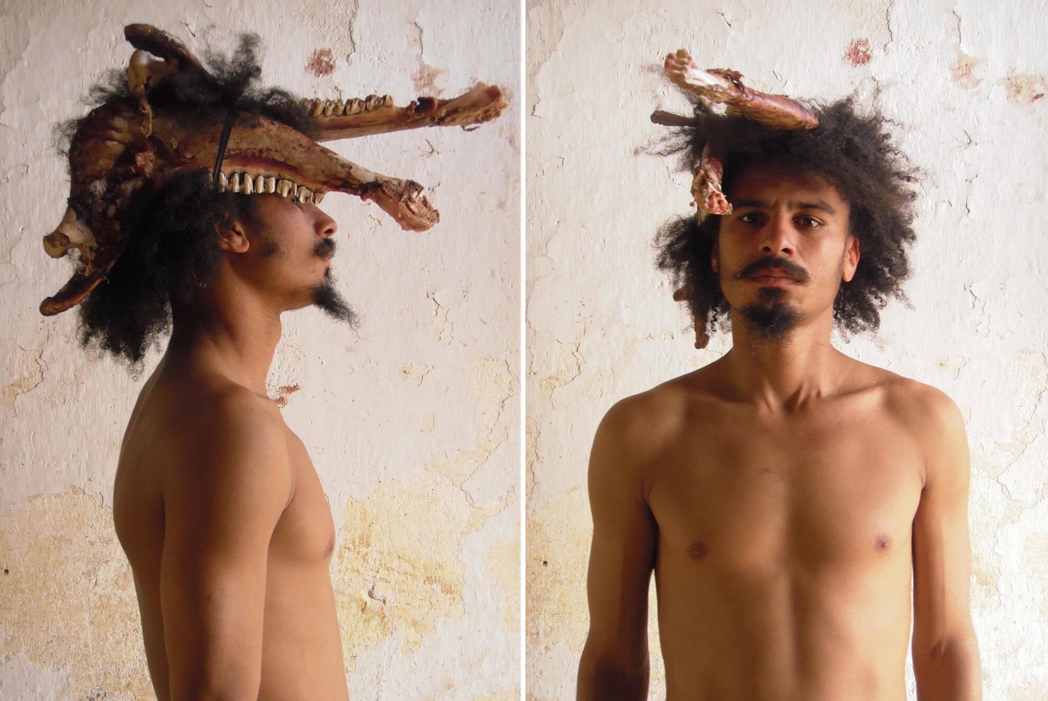 Paulo Nazareth,<em>untitled, from Mi Imagen de Hombre Exotico series,</em>2011, photo printing on cotton paper, 29 × 22 cm - Mendes Wood DM
