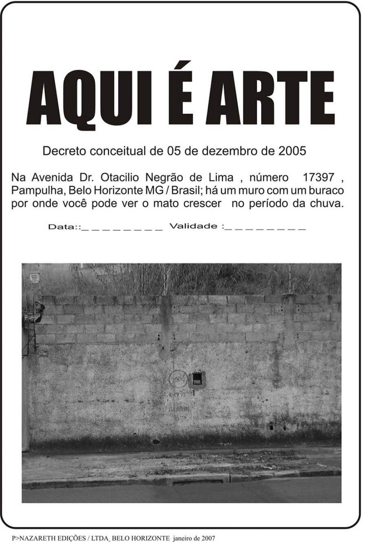 Paulo Nazareth,<em>Aqui é Arte - Pamphlet</em>, 2005,photo printing on cotton paper  - Mendes Wood DM