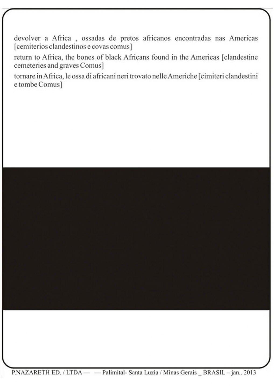 Paulo Nazareth, <em>untitled, from Cadernos de África series,</em> 2013, inkjet on newsprint<br> - Mendes Wood DM