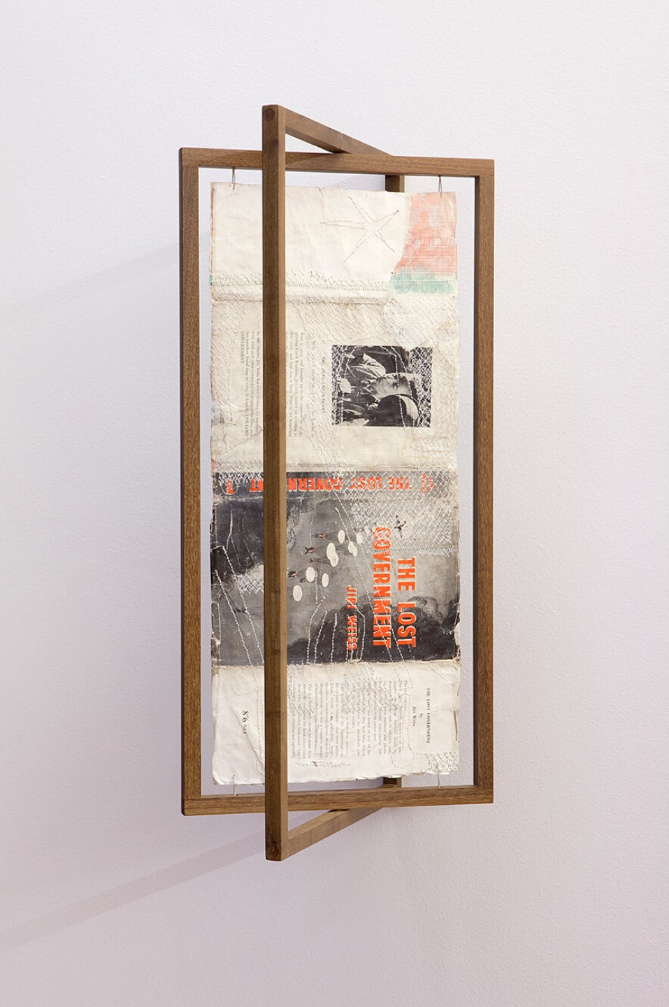 f.marquespeteado,<em>Dust Jacket</em>, 2004, gouaches on book embroidered by machine, 61×30×26 cm - Mendes Wood DM
