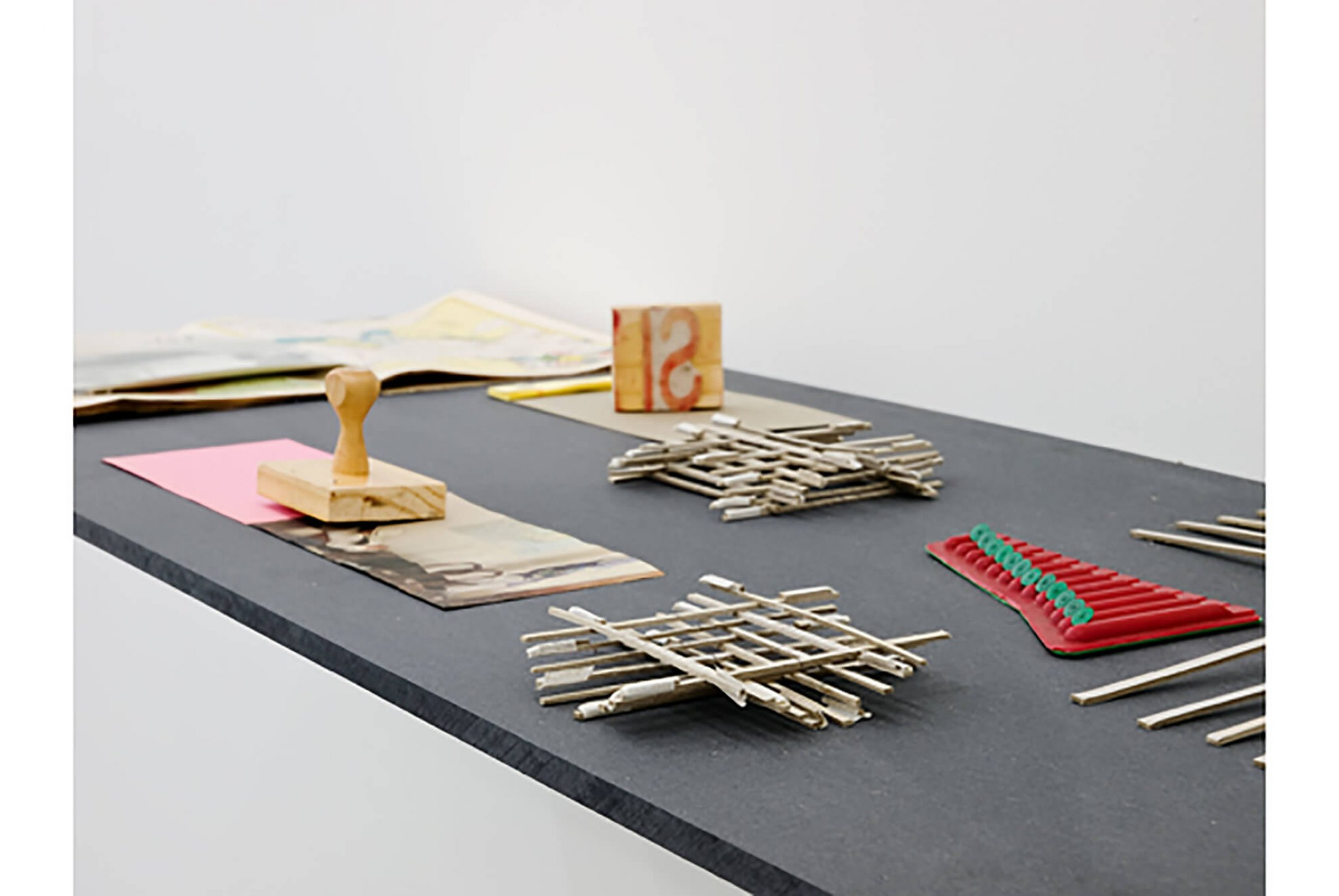 Runo Lagomarsino,<em>Las Casas is Not a Home</em>, 2008/2010,Installation withobjects, sculpture, video, drawings prints and shelves, variable dimensions - Mendes Wood DM