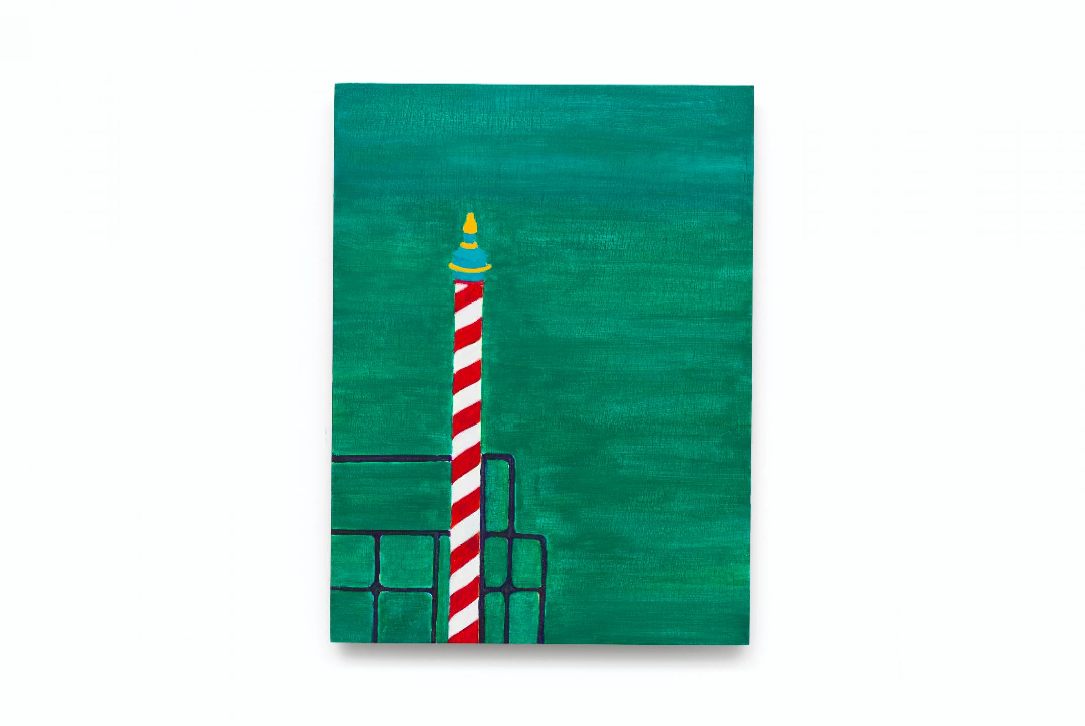 Patricia Leite, <em>untitled, from Veneza series</em>, 2015, oil on wood, 40 × 30 cm - Mendes Wood DM