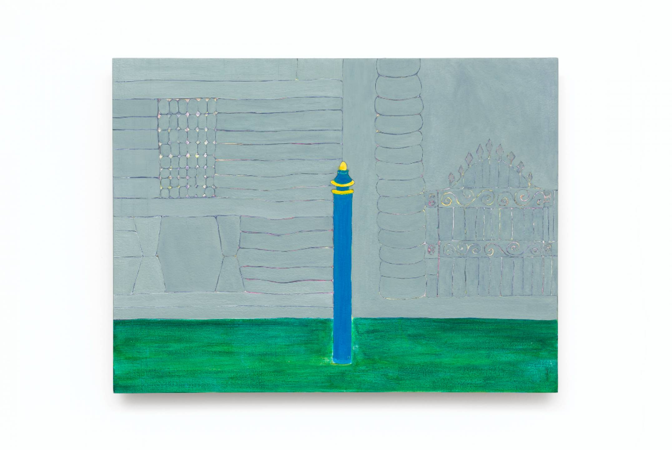 Patricia Leite, <em>untitled, from Veneza series</em>, 2015, oil on wood, 30 × 40 cm - Mendes Wood DM