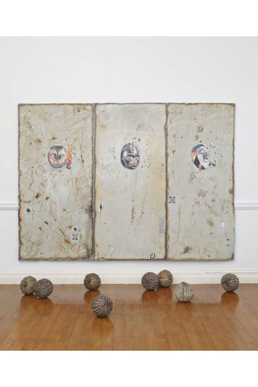 Paulo Nimer Pjota,&nbsp;<em>The history in repeat mode — symbol</em>, Maureen Paley / Morena di Luna, Hove, 2017 - Mendes Wood DM