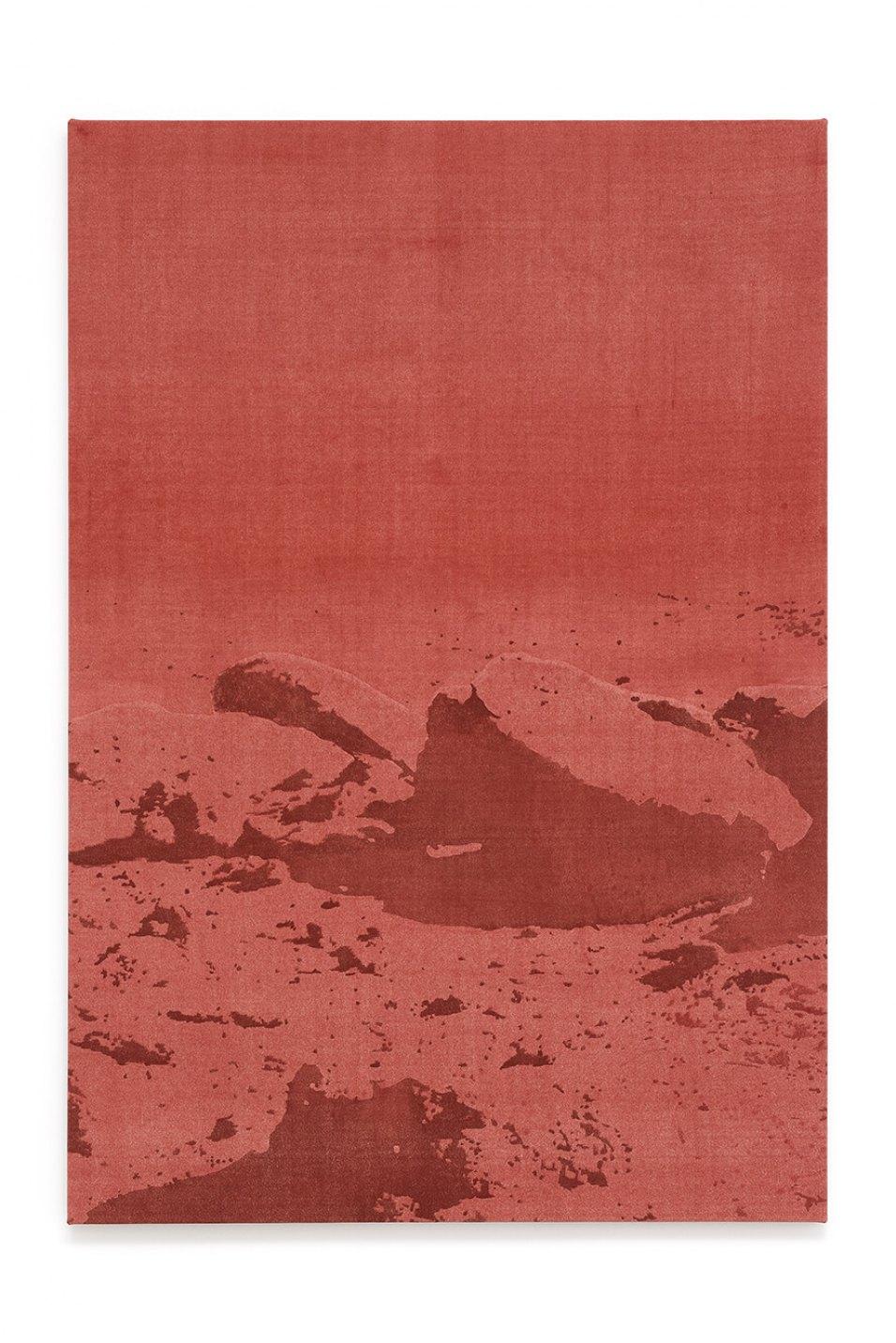 Francesco João Scavarda,<em>untitled (satellite)</em>,2017,gouache on raw canvas,145 × 100 × 4 cm - Mendes Wood DM