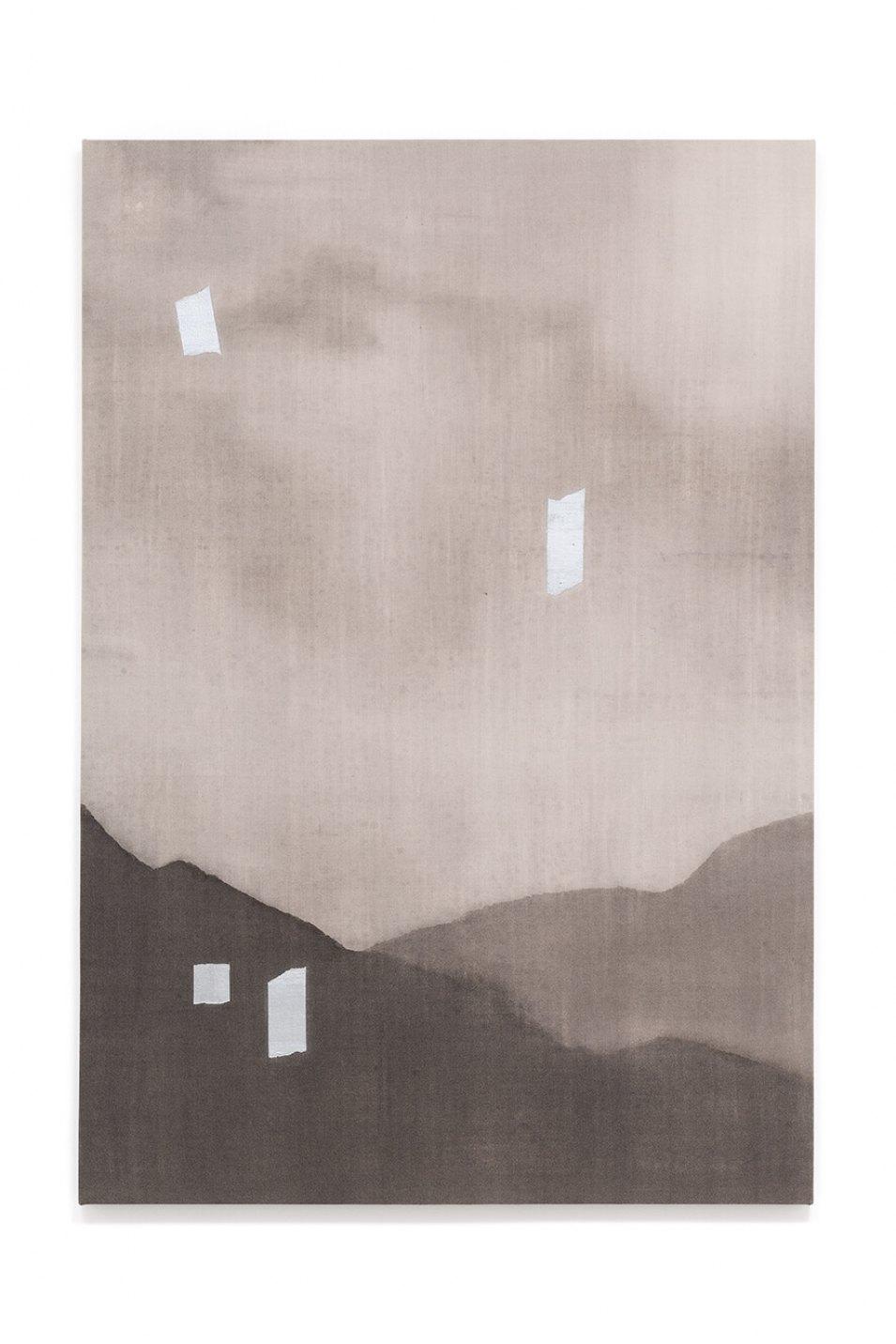 Francesco João Scavarda,<em>untitled</em>,2016,gouache on raw canvas,145 × 100 × 4 cm - Mendes Wood DM