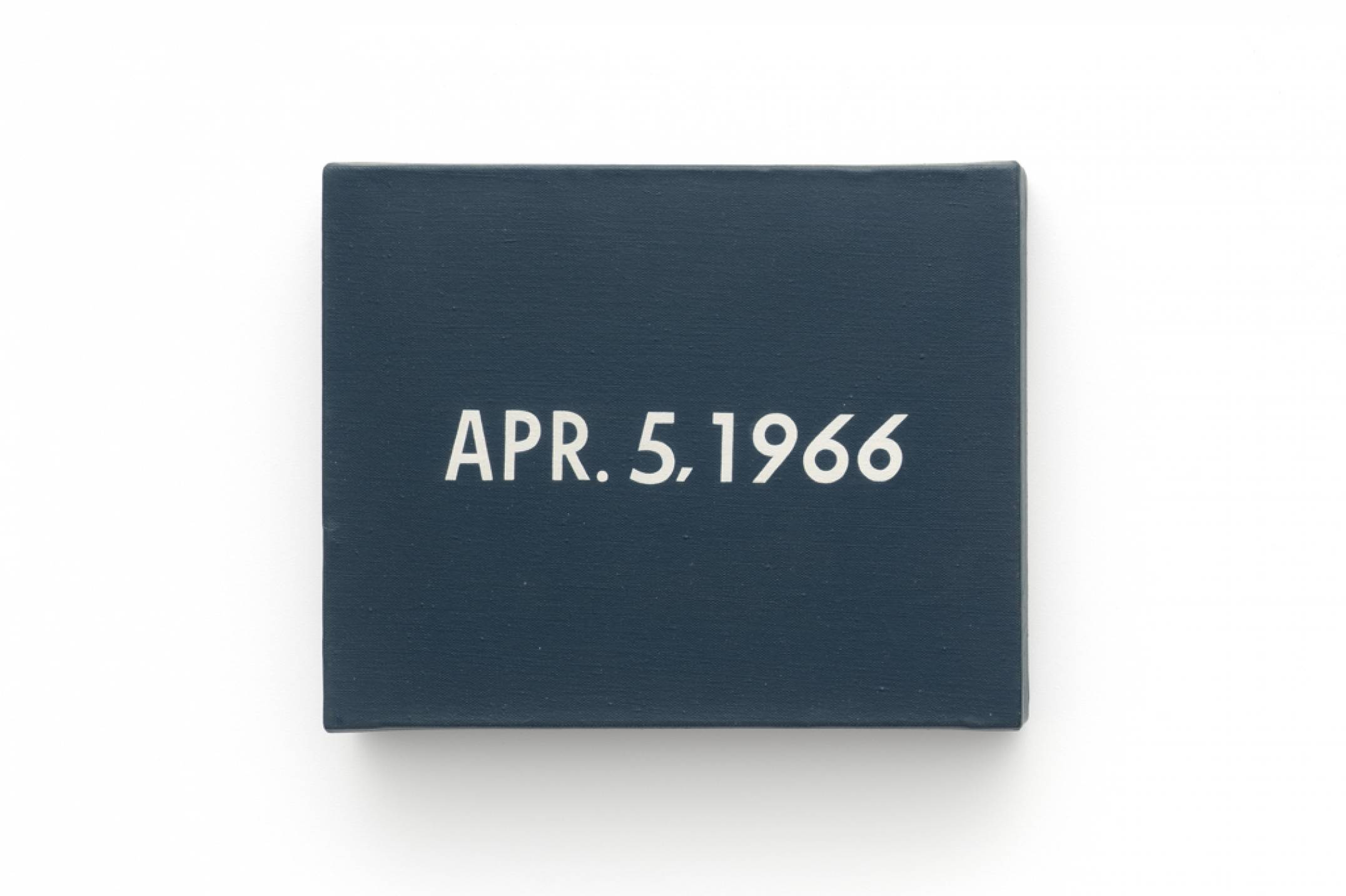 On Kawara, <em>APR. 5</em>, 1966, liquitex on canvas, 20,3 × 25,4 cm - Mendes Wood DM