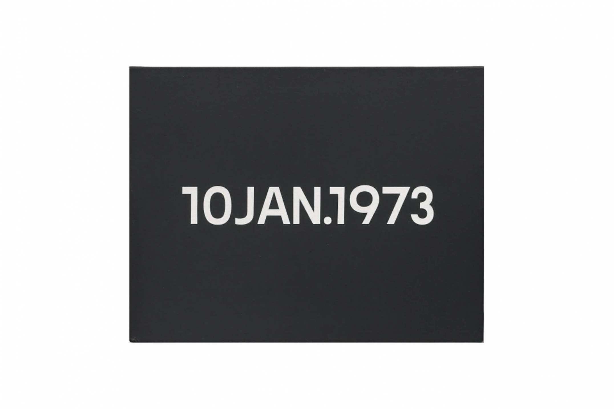 On Kawara, <em>10 Jan.,</em> 1973, liquitex on canvas, 26 × 33,5 cm<br> - Mendes Wood DM