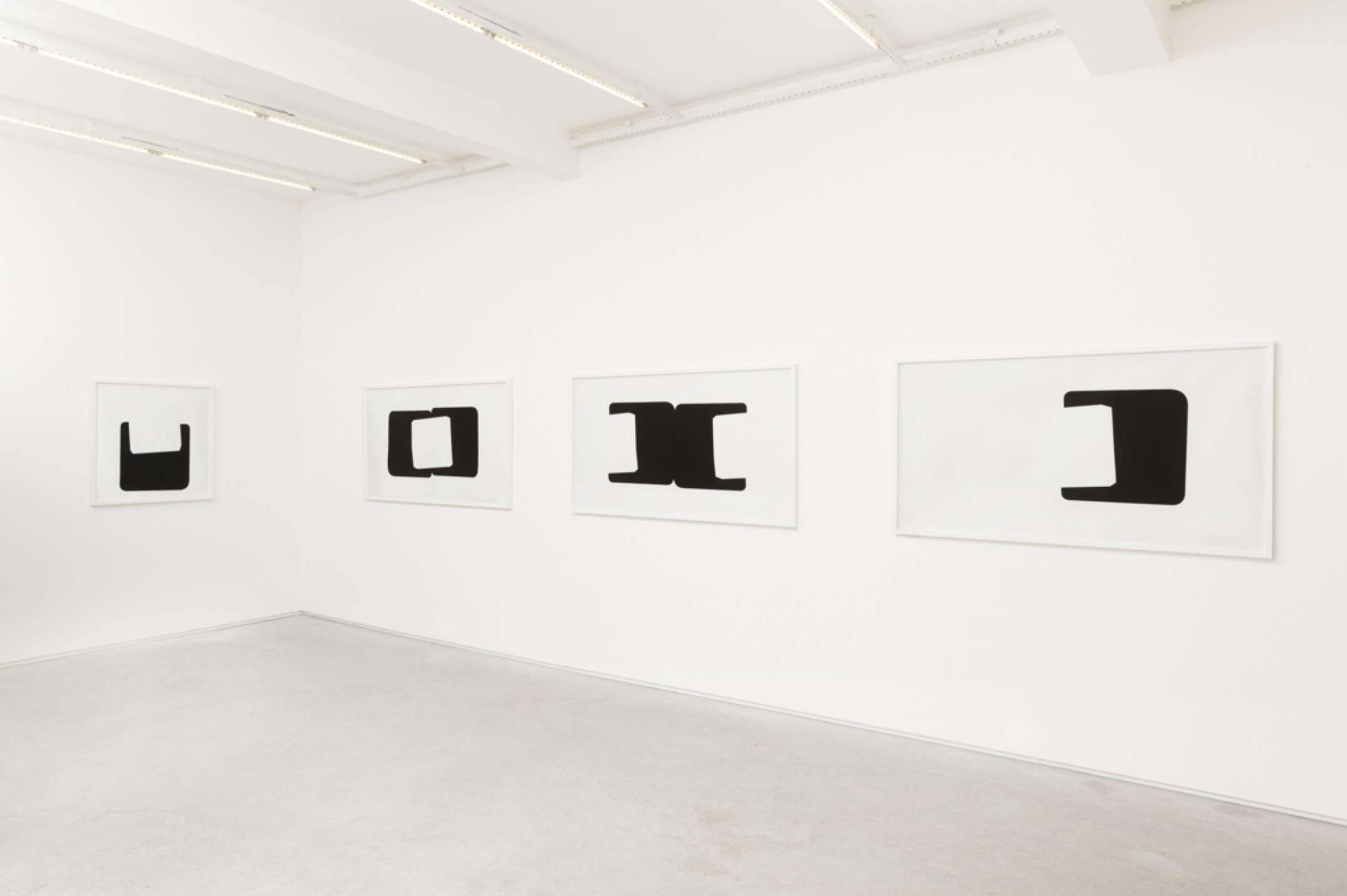 Lotus Lobo, <em>Transformação / Mutação / Transformação / Mutação,</em> 1968-2016,&nbsp;Facsimile printed on fine art,&nbsp;90 × 87,5 cm / 90 × 163 cm / 90 × 163 cm / 90 × 163 cm&nbsp; (from left to right) - Mendes Wood DM