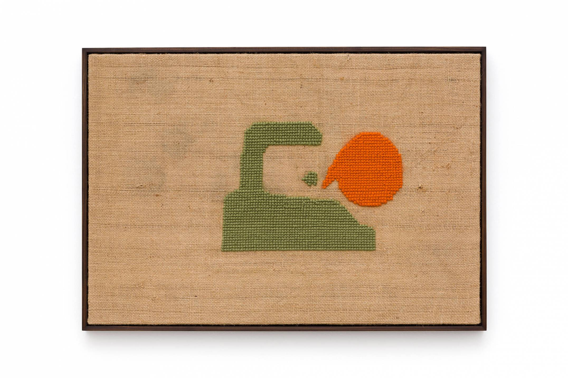 Alexandre da Cunha,<em>&nbsp;Fair Trade</em>, 2015, embroidered on jutebag in collaboration with Luisa Strina, 65,5 × 93 cm - Mendes Wood DM
