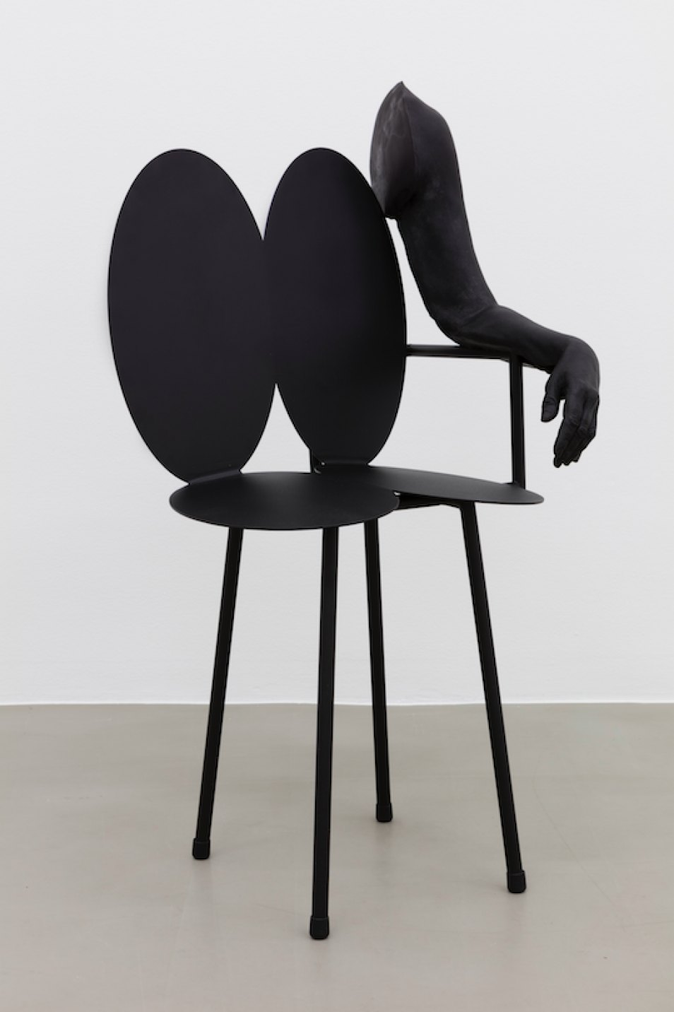 Dominique Gonzalez-Foerster & Manuel Raeder, <em>BLACK MOUNTAIN left arm, </em>2016, powder-coated steel, resin, acrylic paint, 100 × 53 × 47 cm - Mendes Wood DM