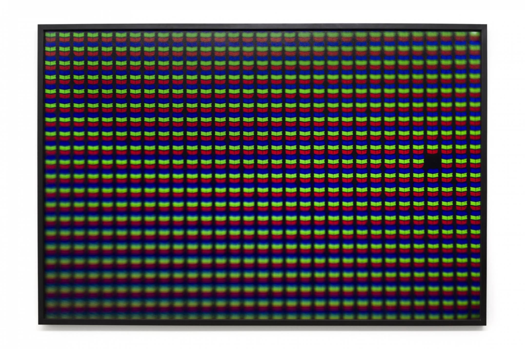 Roberto WInter,<em>Dead pixel (Iphone)</em>, 2017, printing inkjet on paper Hahnemühle FineArt Baryta, 110 × 165 cm - Mendes Wood DM