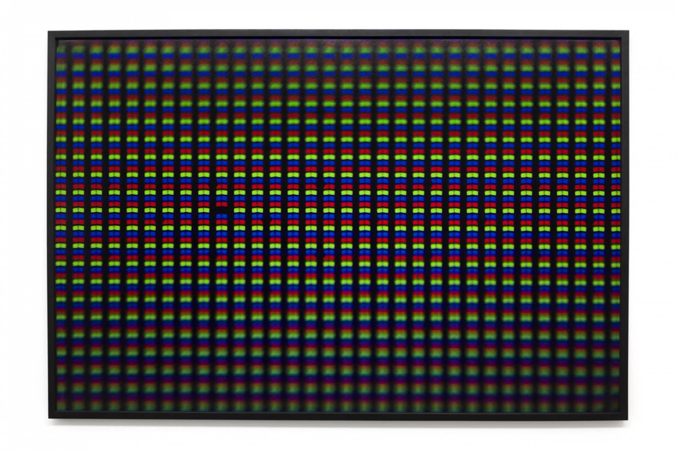 Roberto WInter,<em>Dead pixel (Ipad)</em>, 2017, printing inkjet on paper Hahnemühle FineArt Baryta, 110 × 165 cm - Mendes Wood DM