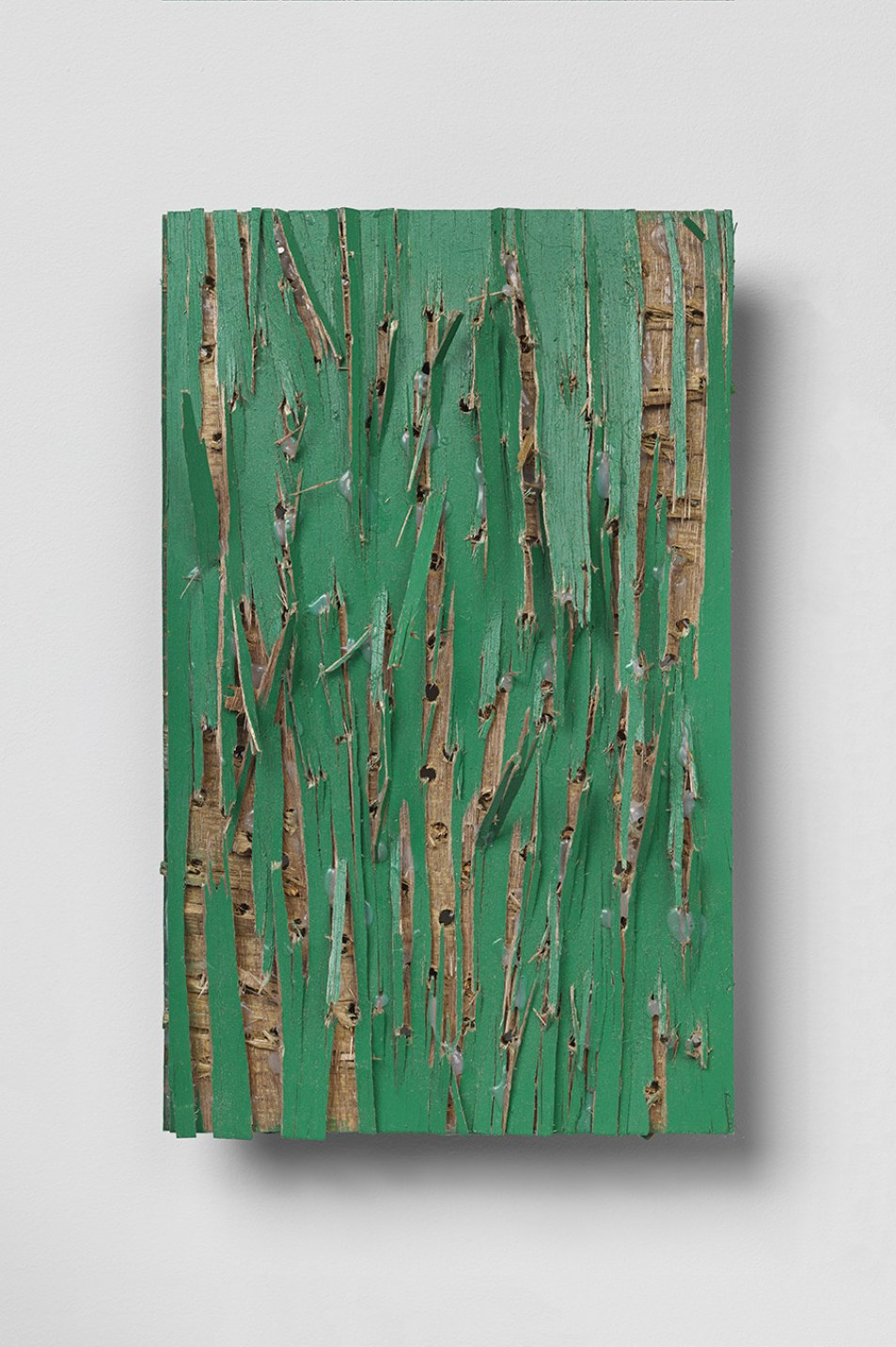 Kishio Suga, <em>Origins of Scenery and Site</em>, 2011, wood, paint, 33 × 20,1 × 8,8 cm - Mendes Wood DM