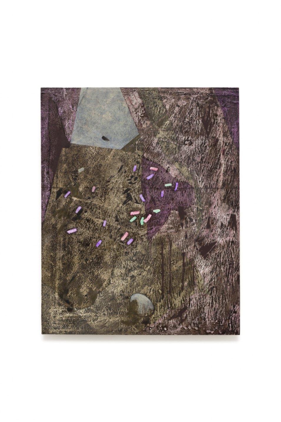 Iulia Nistor,<em> Evidence E5 F6 P2,</em>2017, oil on wood, 50 × 40 cm - Mendes Wood DM