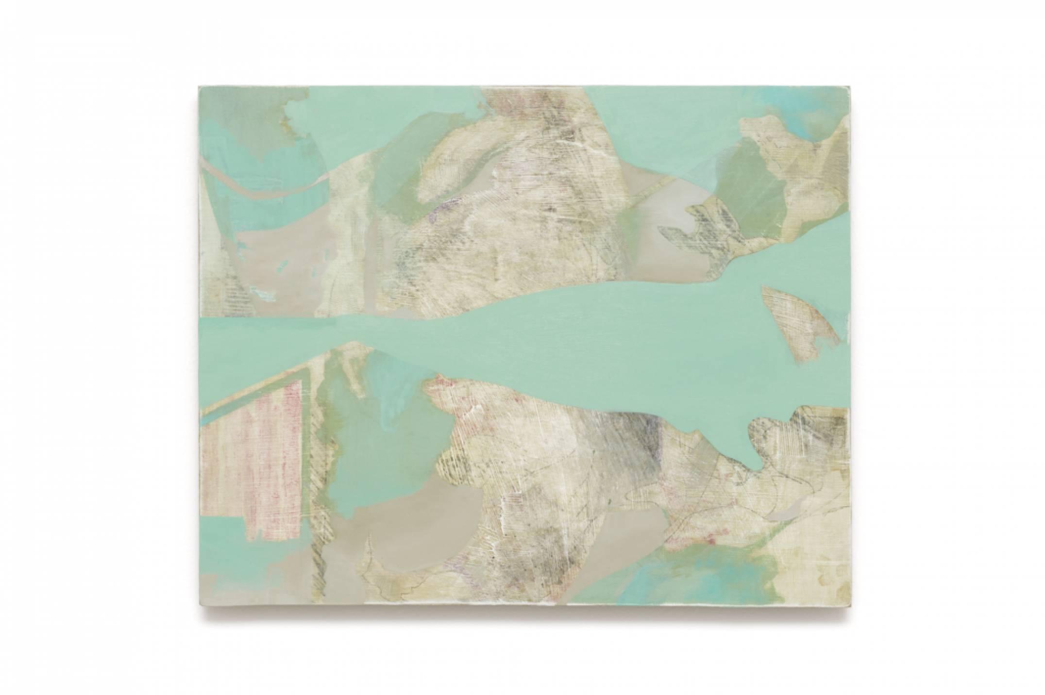 Iulia Nistor,<em>Evidence L4 W5 A4</em>,2017, oil on wood, 50 × 40 cm - Mendes Wood DM