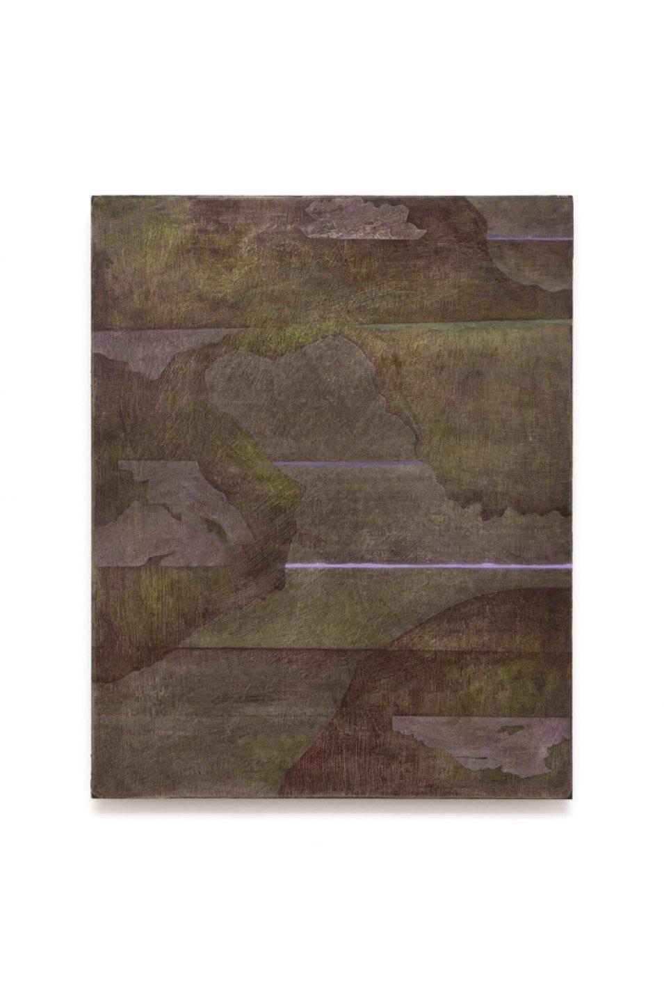 Iulia Nistor, <em>Evidence E8 F5 A1</em>, 2017, oil on wood, 50 × 40 cm - Mendes Wood DM