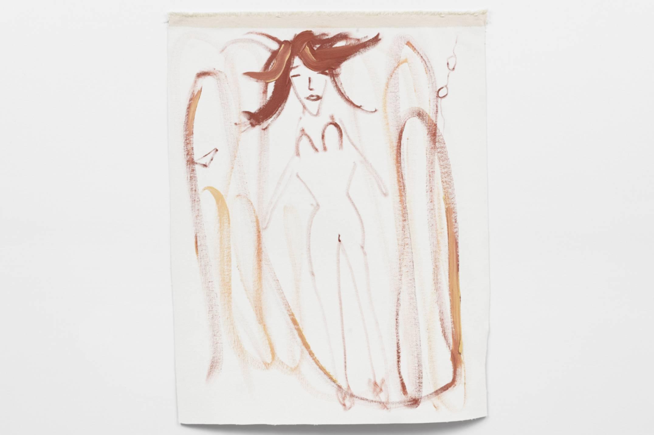 Trevor Shimizu,&nbsp;<em>untitled (zero gravity 4), not aged</em>,&nbsp;2017,&nbsp;oil on canvas, 91 × 81 cm - Mendes Wood DM