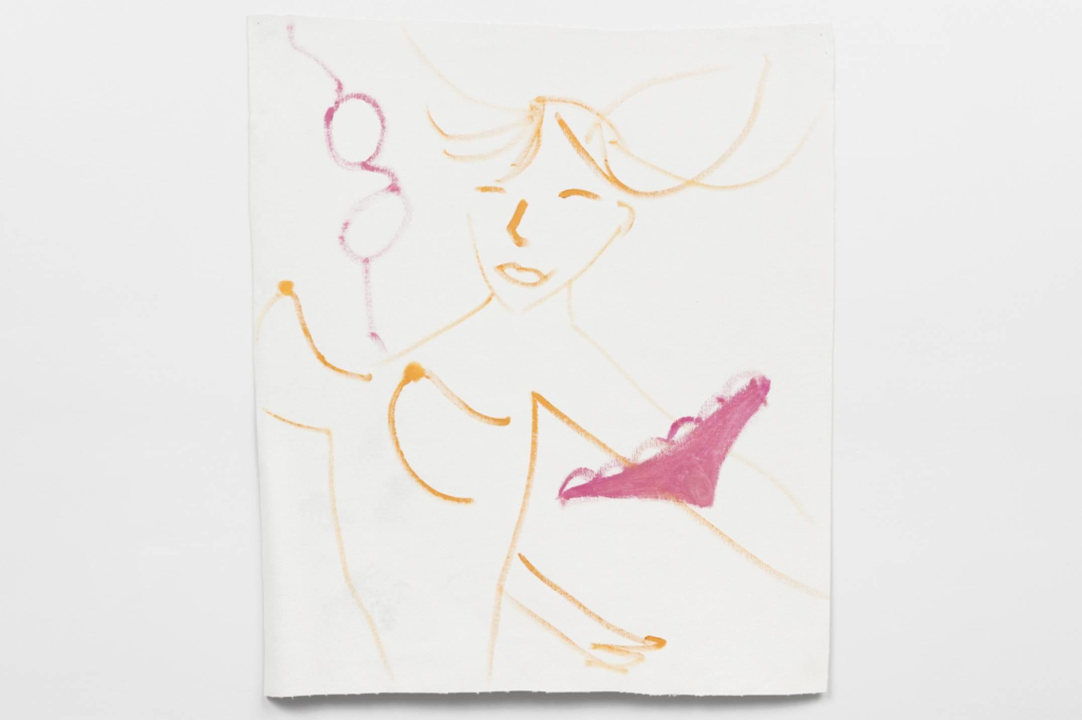Trevor Shimizu, <em>untitled (zero gravity 4), not aged,</em>&nbsp;2017,&nbsp;oil on canvas, 91 × 81 cm - Mendes Wood DM
