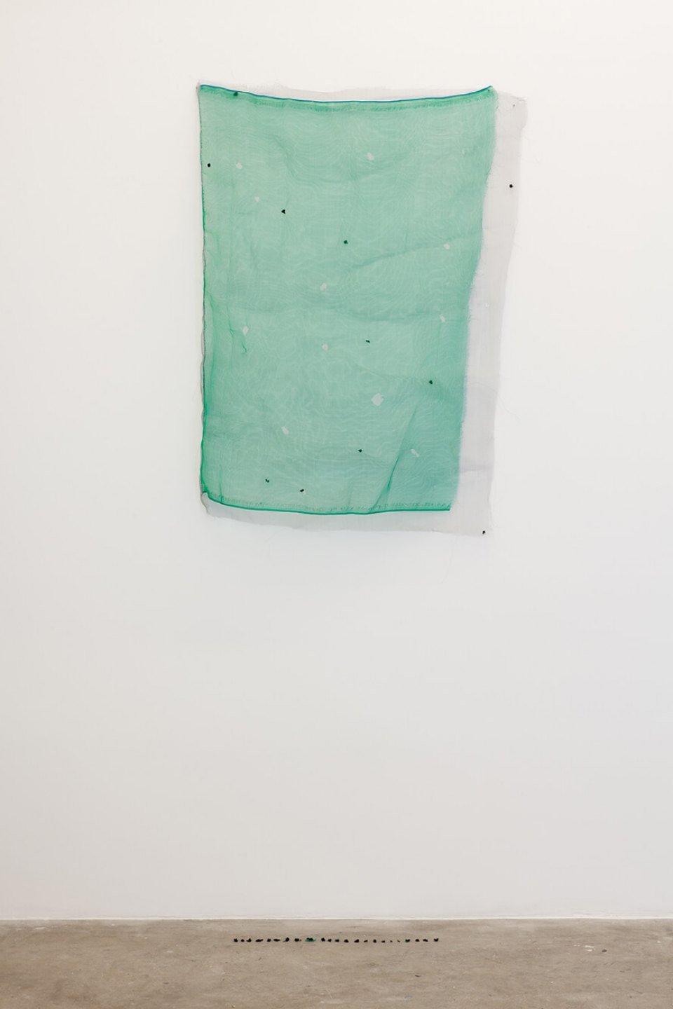 Adriano Costa, <em>We Are The Fly</em>, 2012, embroidery on nylon screen, 75 x 17 cm - Mendes Wood DM