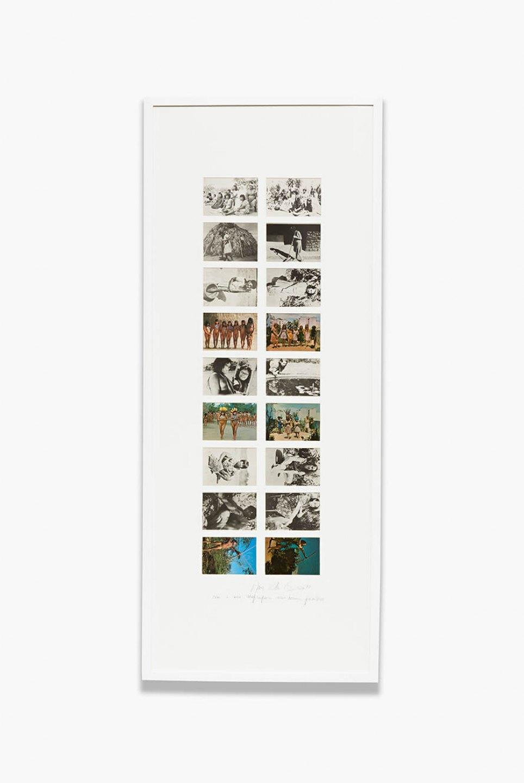 Anna Bella Geiger,Brasil nativo - Brasil alienígena, 1977, 18 postal cards series, 144×58 cm - Mendes Wood DM