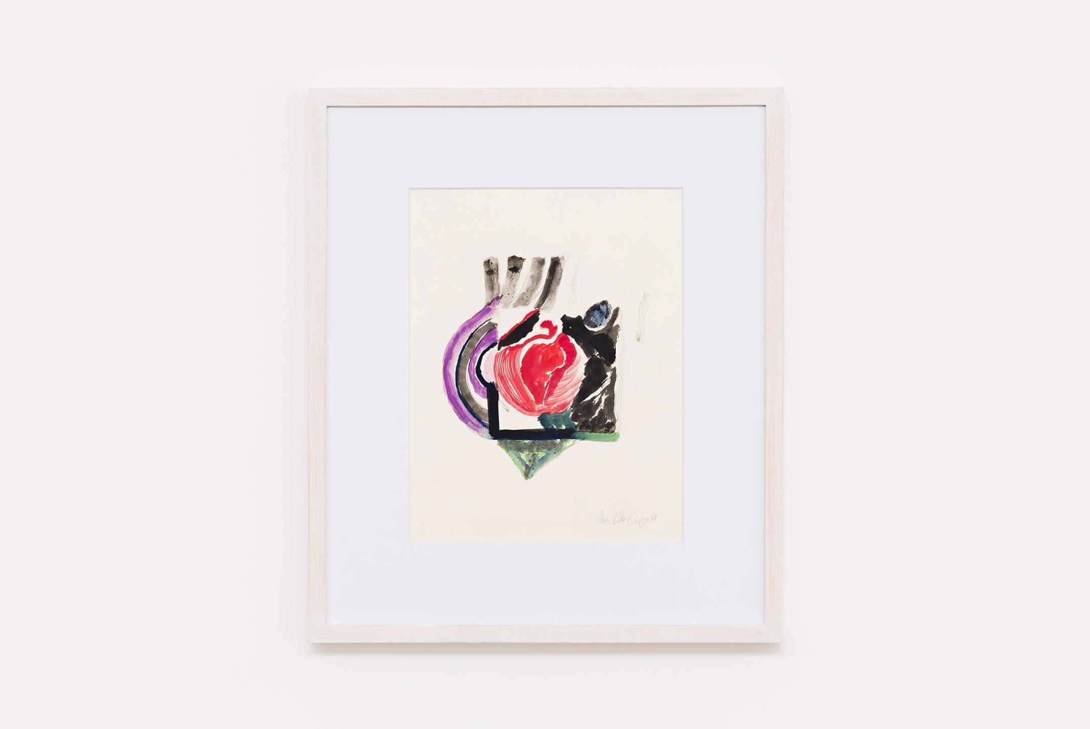 Anna Bella Geiger,<em>untitled, </em>1969, gouache, ecoline and nankin, 39,5×30,5 cm - Mendes Wood DM