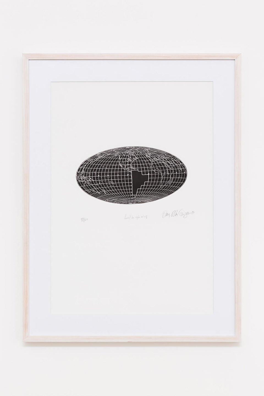 Anna Bella Geiger,<em>Local de ação n.01</em>, 1980, engraving on metal, 94,5 × 70 cm - Mendes Wood DM
