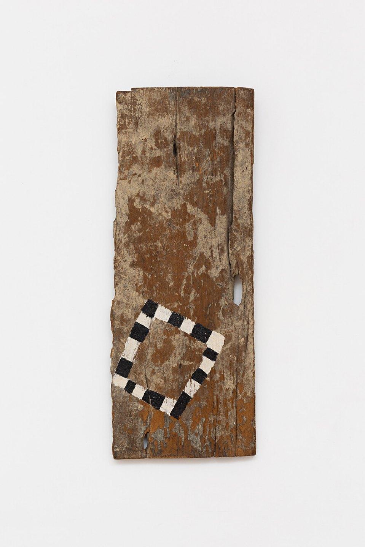 Celso Renato, u<em>ntitled</em>,1992,oil on wood, 59 × 23 cm - Mendes Wood DM