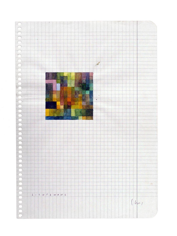 Daniel Steegmann Mangrané,<em>Lichtzwang,</em>2001,watercolor on paper, 21 × 15 cm - Mendes Wood DM