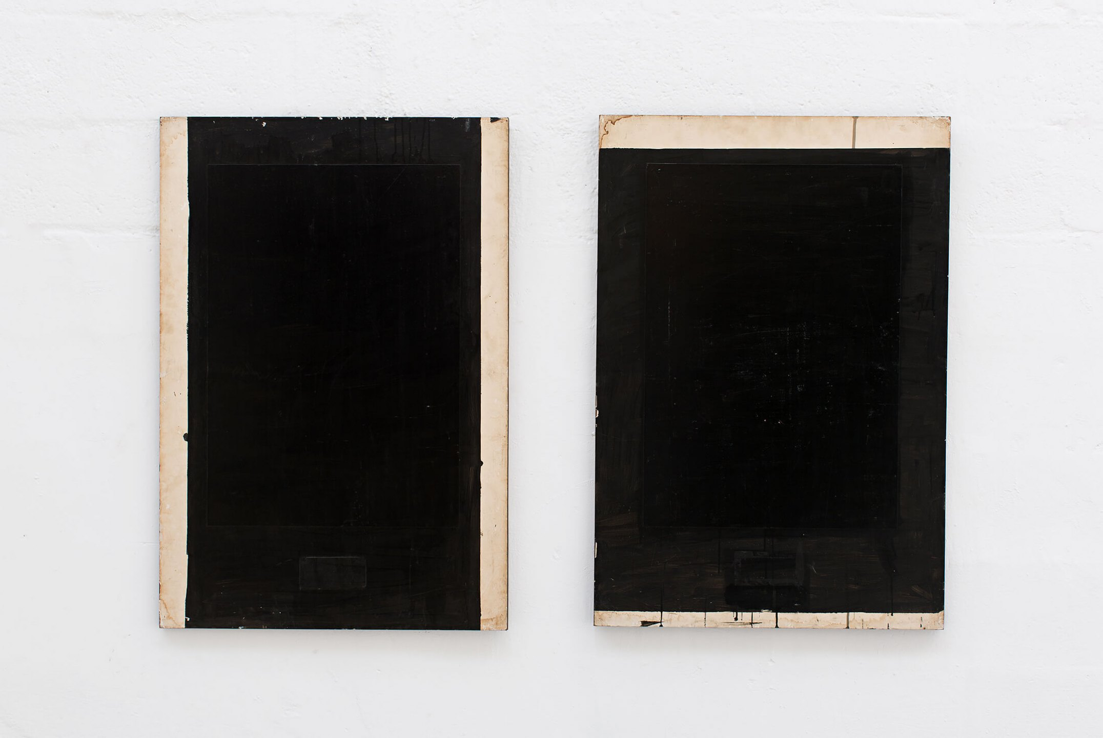 Deyson Gilbert, <em>Díptico</em>, 2008, acrylic on wood, 98 × 67 cm (each) - Mendes Wood DM