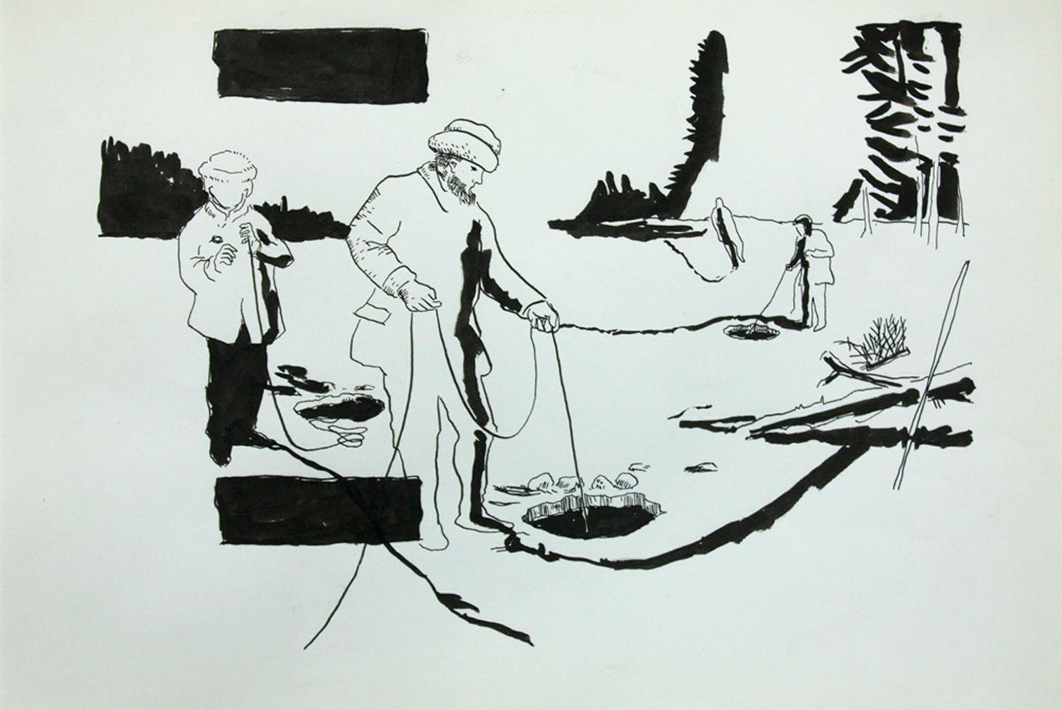 Deyson Gilbert,<em>untitled,</em> 2011, ink on paper, 33 ×23 cm - Mendes Wood DM