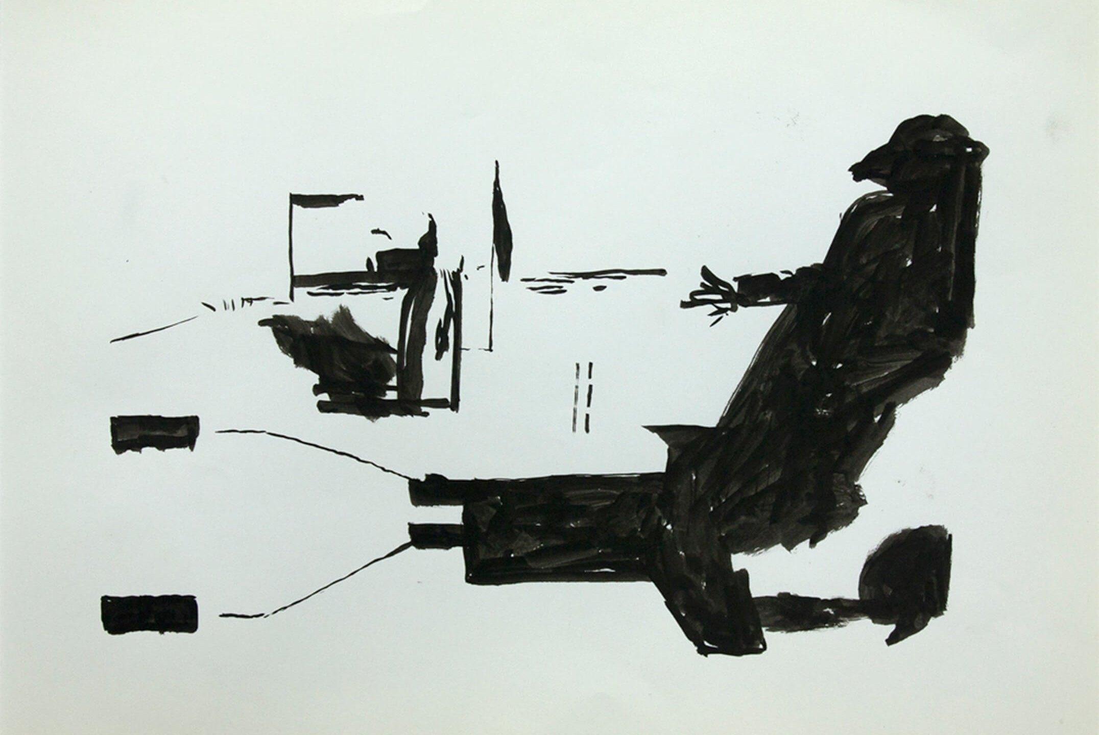 Deyson Gilbert,<em>untitled</em>,2011, ink on paper, 31 ×23 cm - Mendes Wood DM
