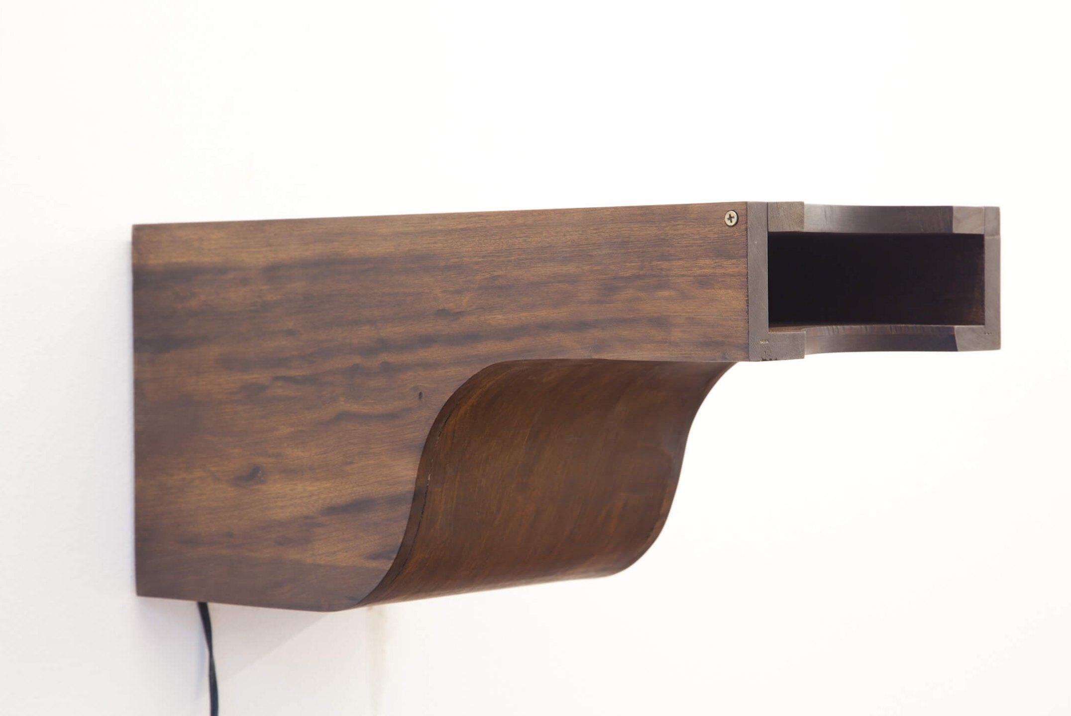 Deyson Gilbert, <em>+ (from Economia da Imagem series)</em>, 2010, wood and halogen lamp, 23 × 23 × 46 cm - Mendes Wood DM