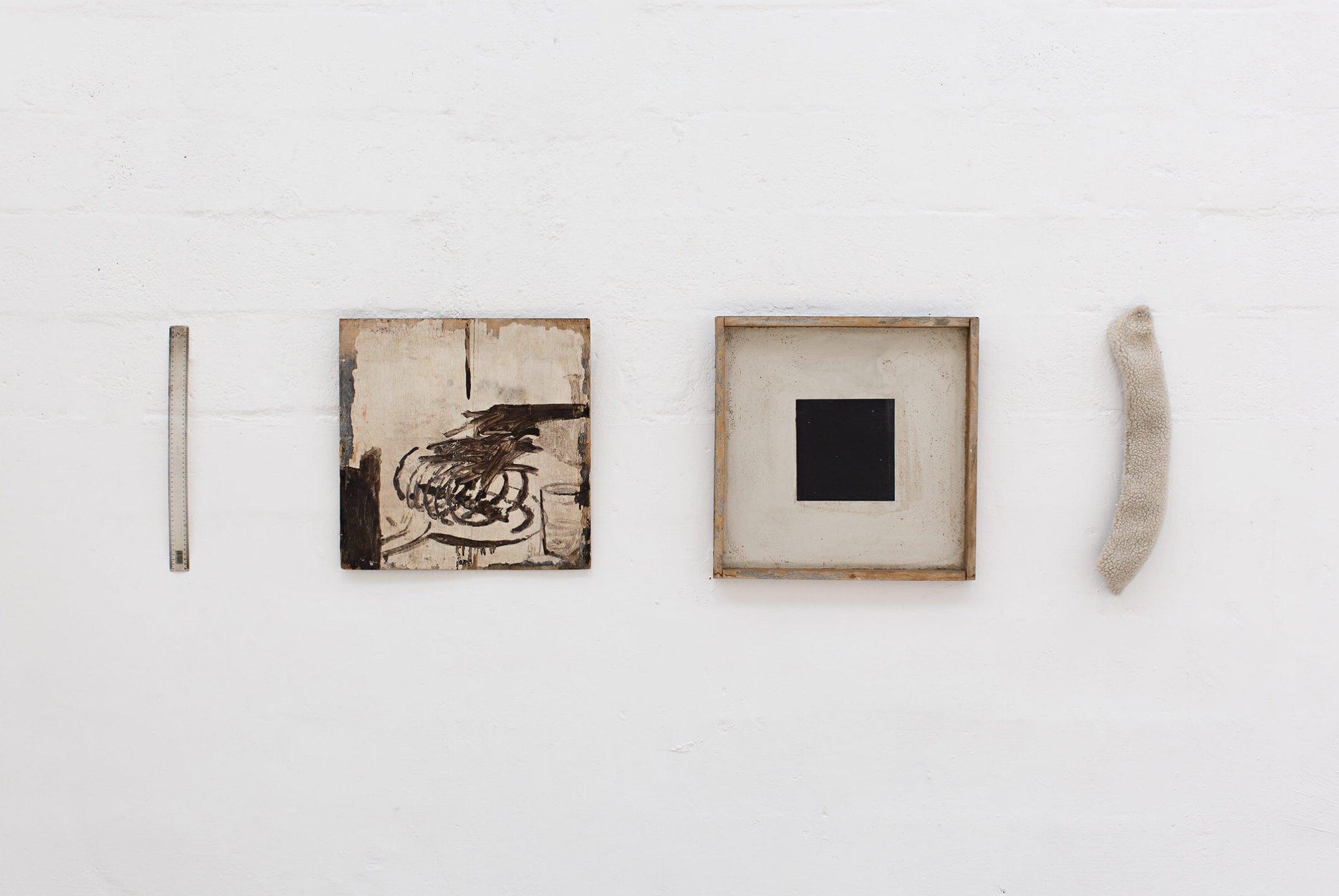 Deyson Gilbert,<em>untitled</em>,2004, acrylic on wood, plastic and artificial wool, 64 × 193 × 6 cm - Mendes Wood DM
