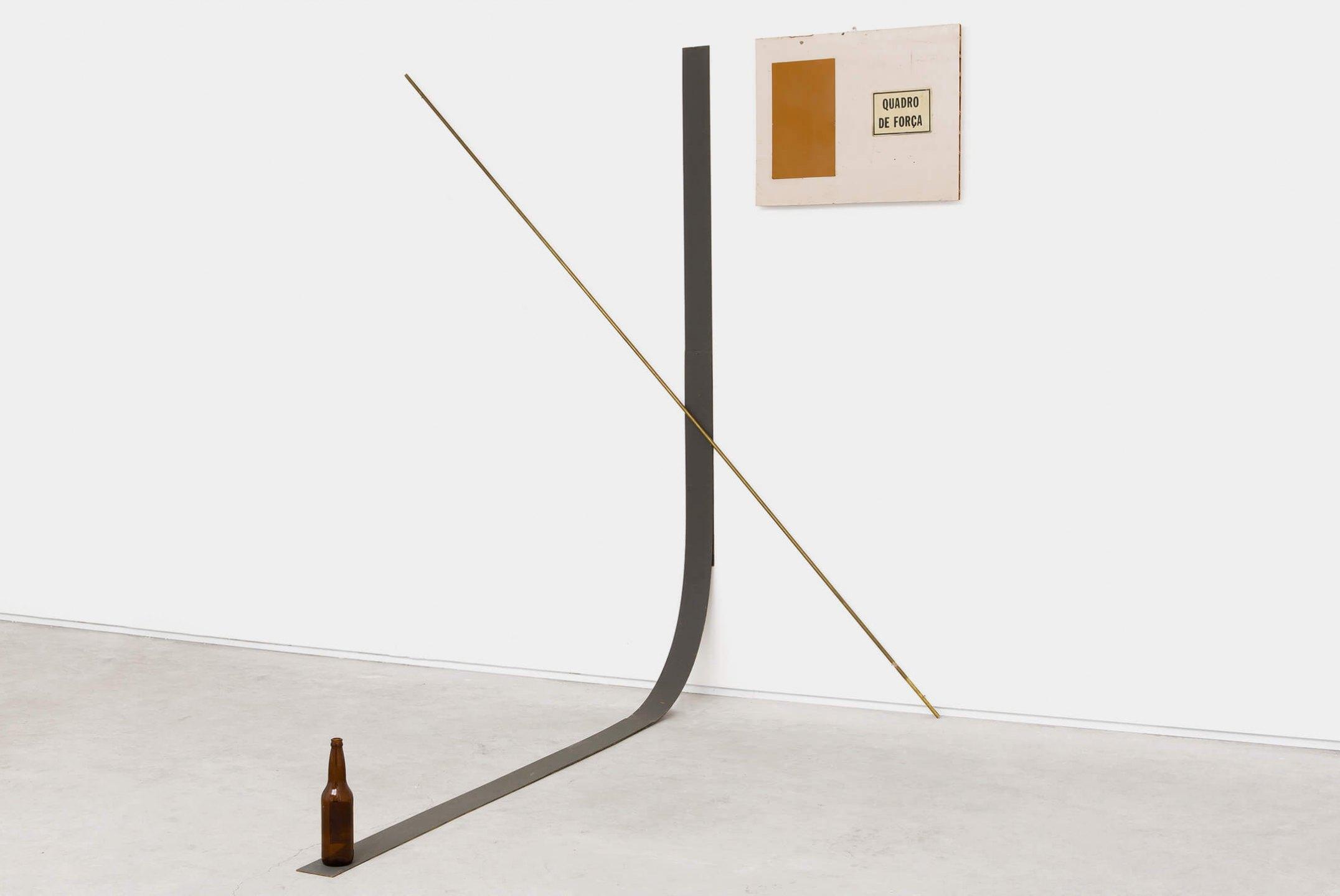 Deyson Gilbert, <em>Quadro de Força (from Questão de Ordem ou Estudos Sobre a Síndrome de Gerstmann series)</em>, 2015/2016, wood, metal, plastic and glass, 222 × 205 × 229 cm - Mendes Wood DM