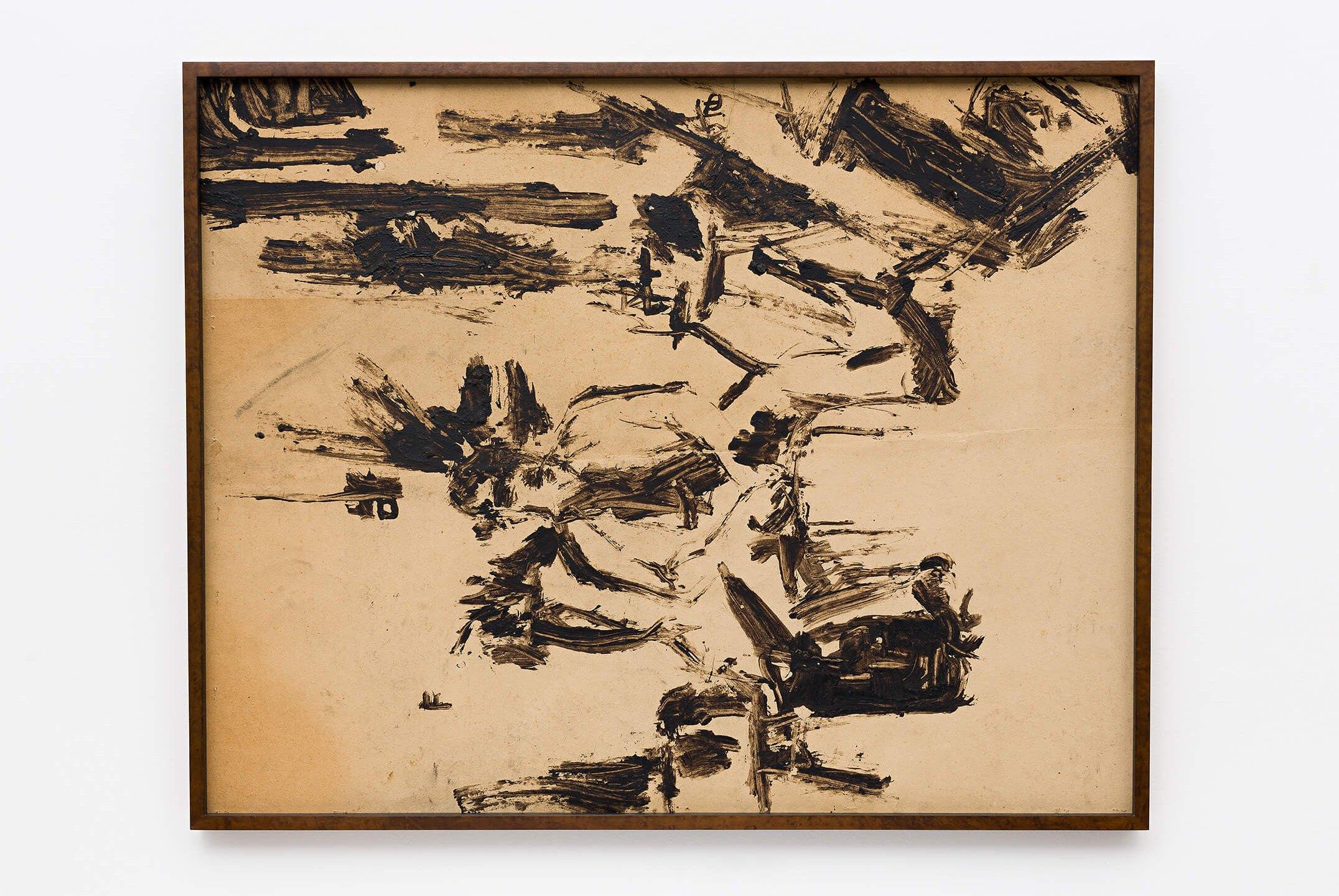 Deyson Gilbert,<em>Paisagem (retrato de Taylor Lewis rotacionado 90º para a esquerda)</em>, 2004, acrylic on paper, 78 × 99 cm - Mendes Wood DM