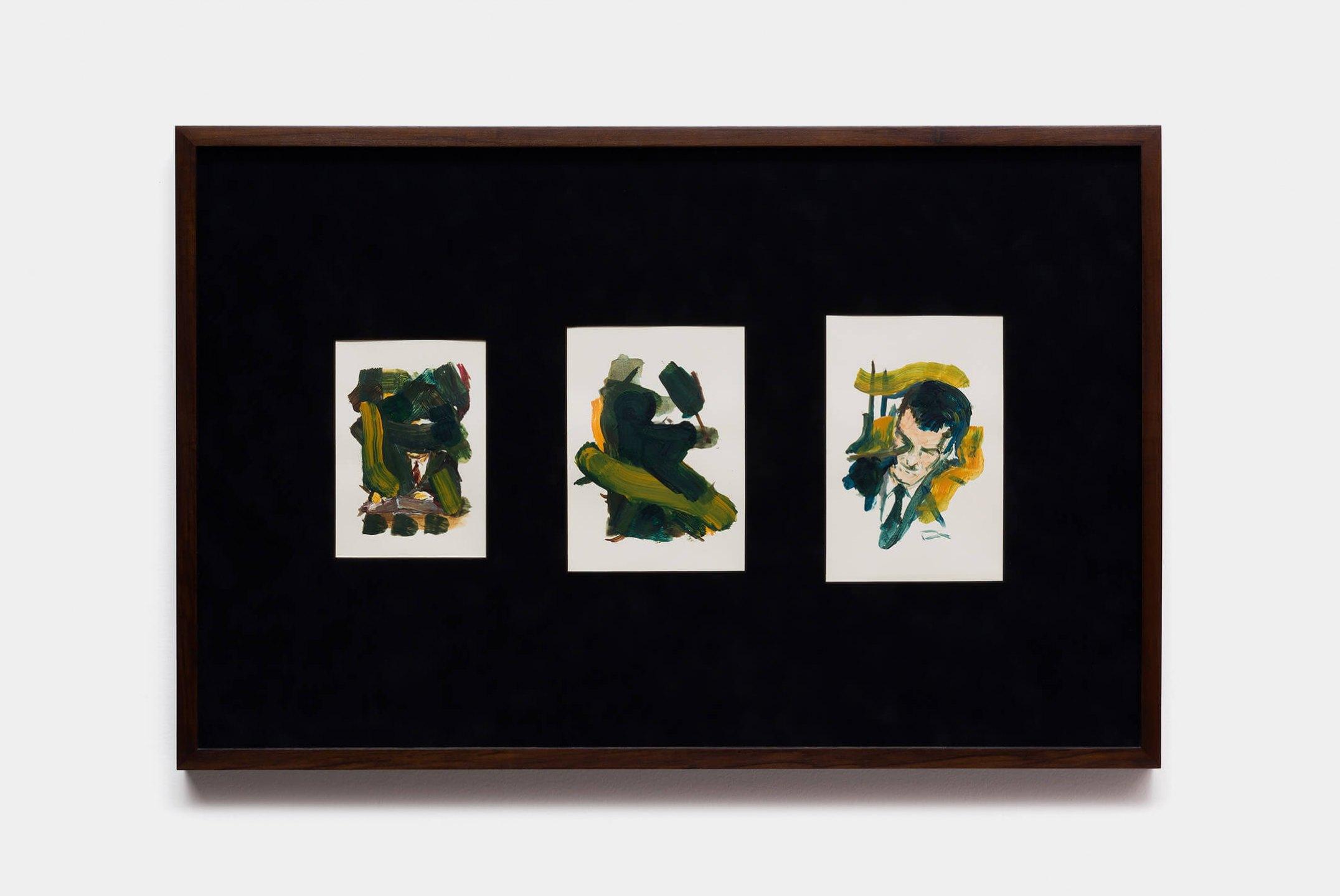 Deyson Gilbert, <em>untitled (from Questão de Ordem ou Estudos Sobre a Síndrome de Gerstmann series)</em>, 2015, oil on paper, 45 ×70 cm - Mendes Wood DM