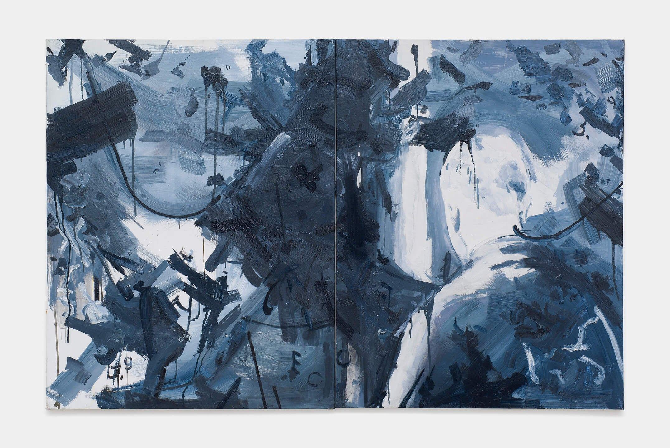 Deyson Gilbert,<em>Mikhail Gorbachev visita o Museu de Arte Moderna (from Questão de Ordem ou Estudos para Síndrome de Gerstmann series)</em>,2009/2016, oil on wood, 90×140 cm - Mendes Wood DM