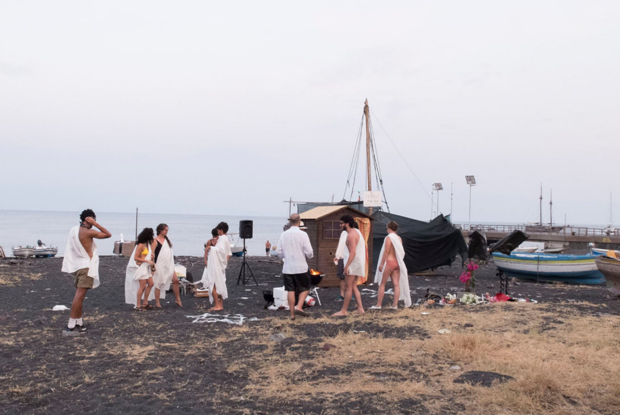 Adriano Costa, <em>In Favour of a Total Eclipse</em>, 2015, Performance, Fiorucci Art Trust, Stromboli, Italy - Mendes Wood DM