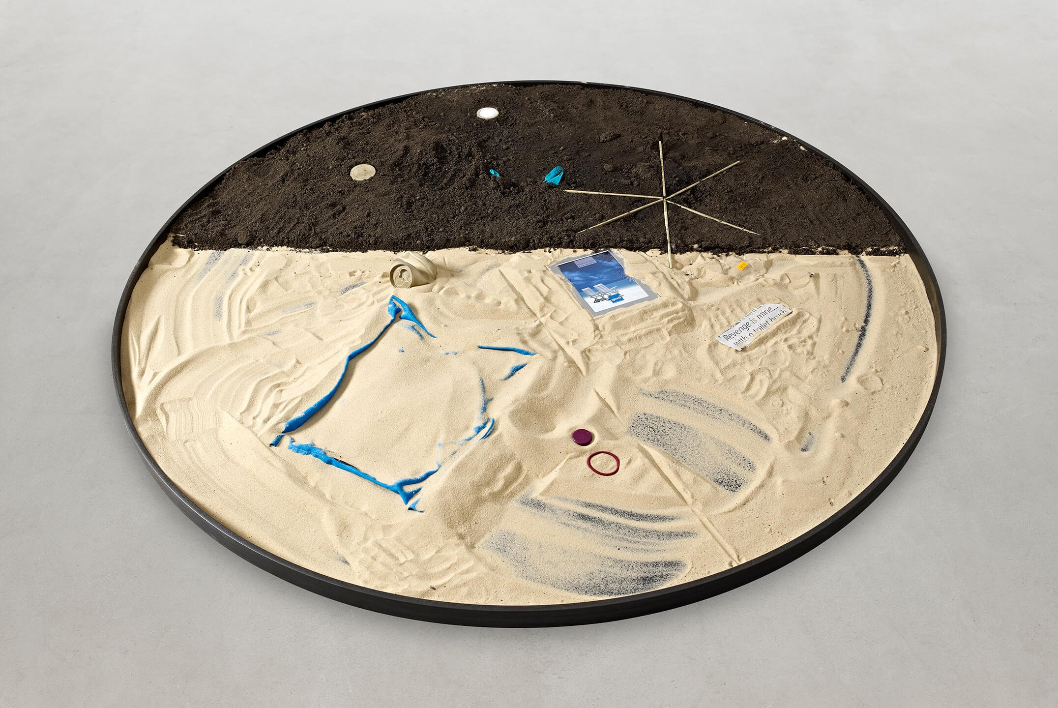 Adriano Costa<em>, Private Property Series / Swimming Pools</em>, 2014, steel, soil, sand, pigment, Guinness, 6 × 150 × 150 cm - Mendes Wood DM