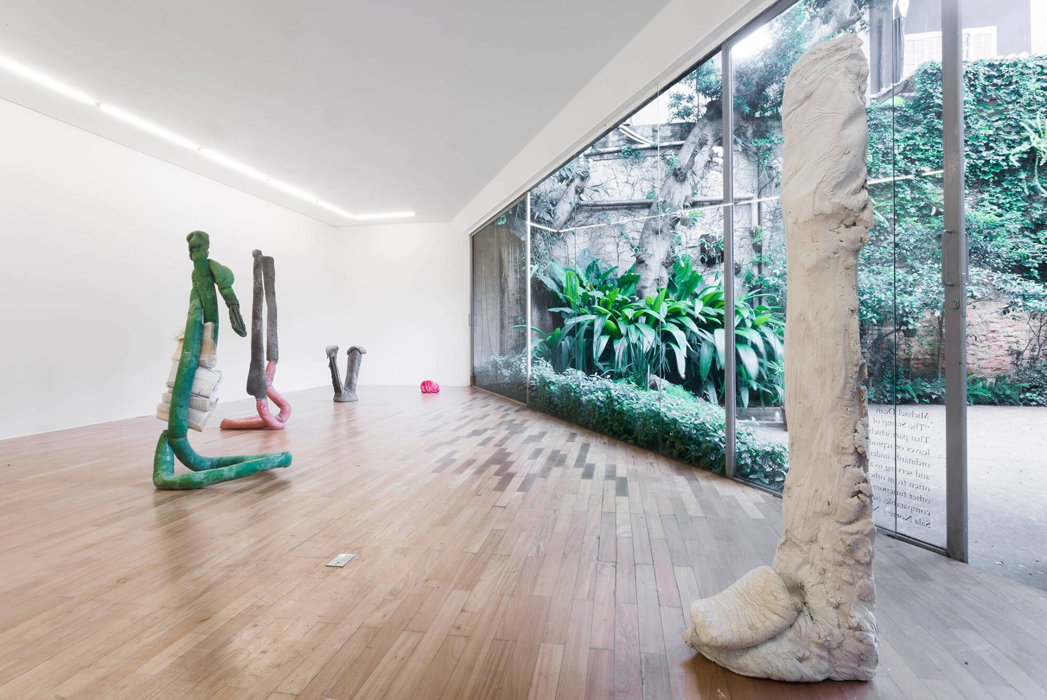 Michael Dean,<em>The Stamp of anything or that part which never bears leaves or reproductive organs, ordinary underneath and descending, and to absorb, but often upon, often from other parts, often serving other functions, though morphologically comparable, </em>Mendes Wood DM, São Paulo, 2015 - Mendes Wood DM