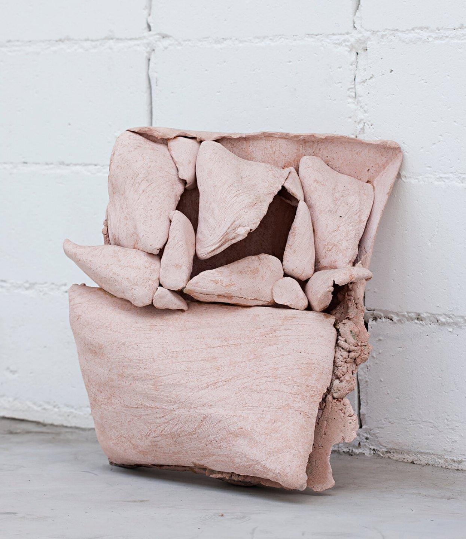 Michael Dean, <em>nnnhnhhnnhnnhn (Working Title)</em>, 2013, concrete and paste, 55 × 35 × 43 cm - Mendes Wood DM